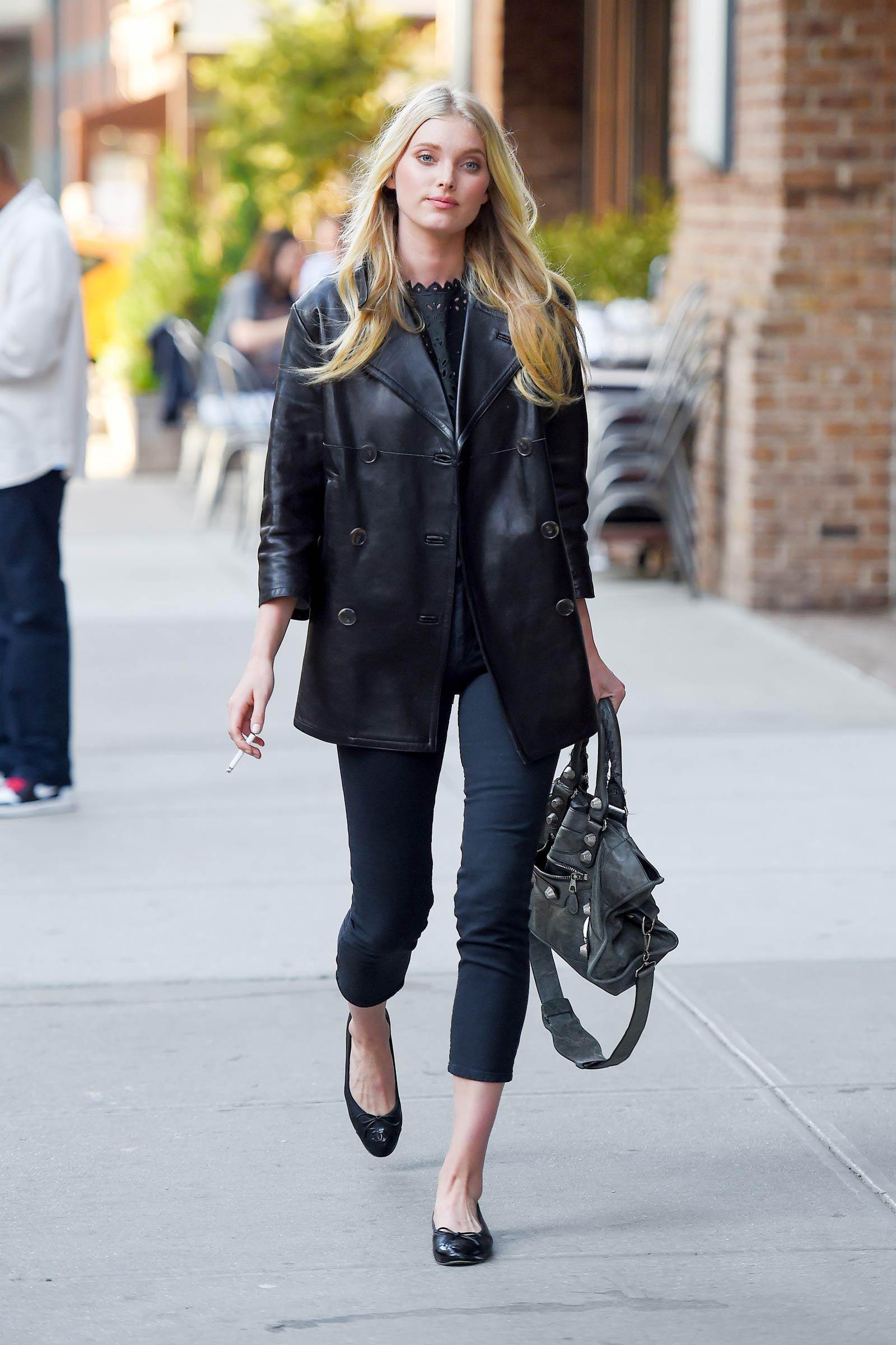 Elsa Hosk out in New York
