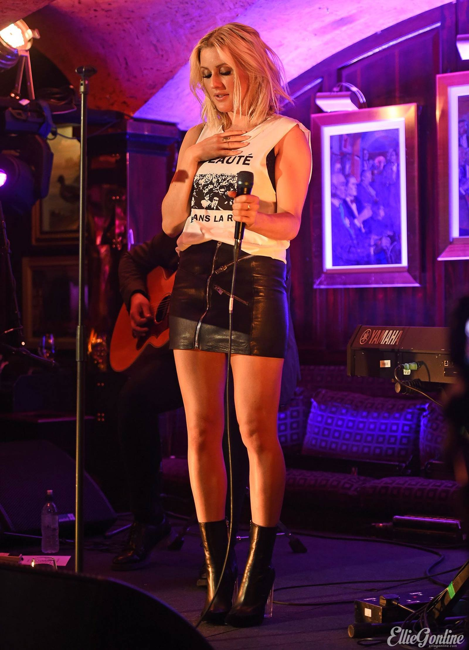Ellie Goulding performs at Annabels Members Club