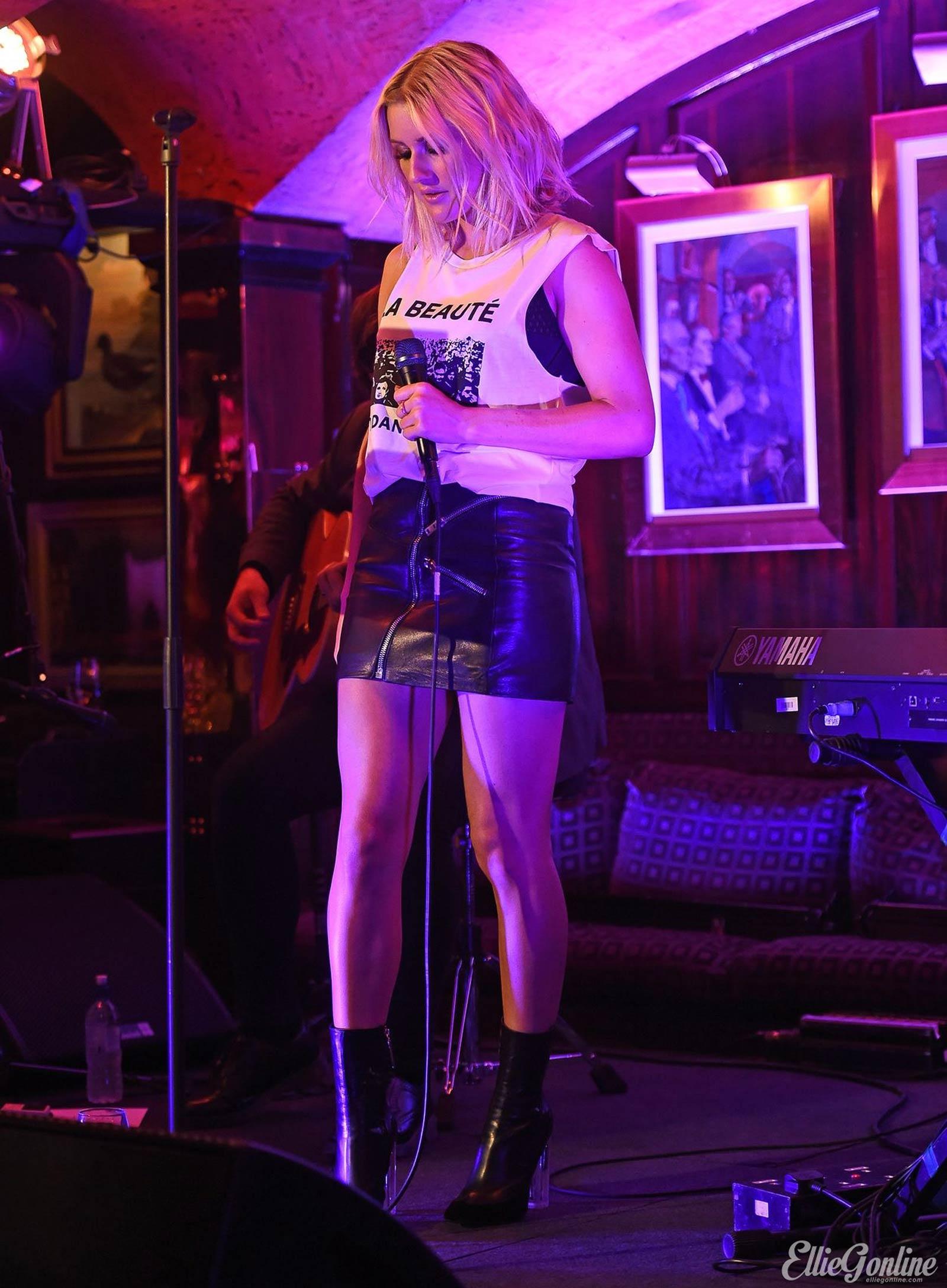 Ellie Goulding performs at Annabels Members Club