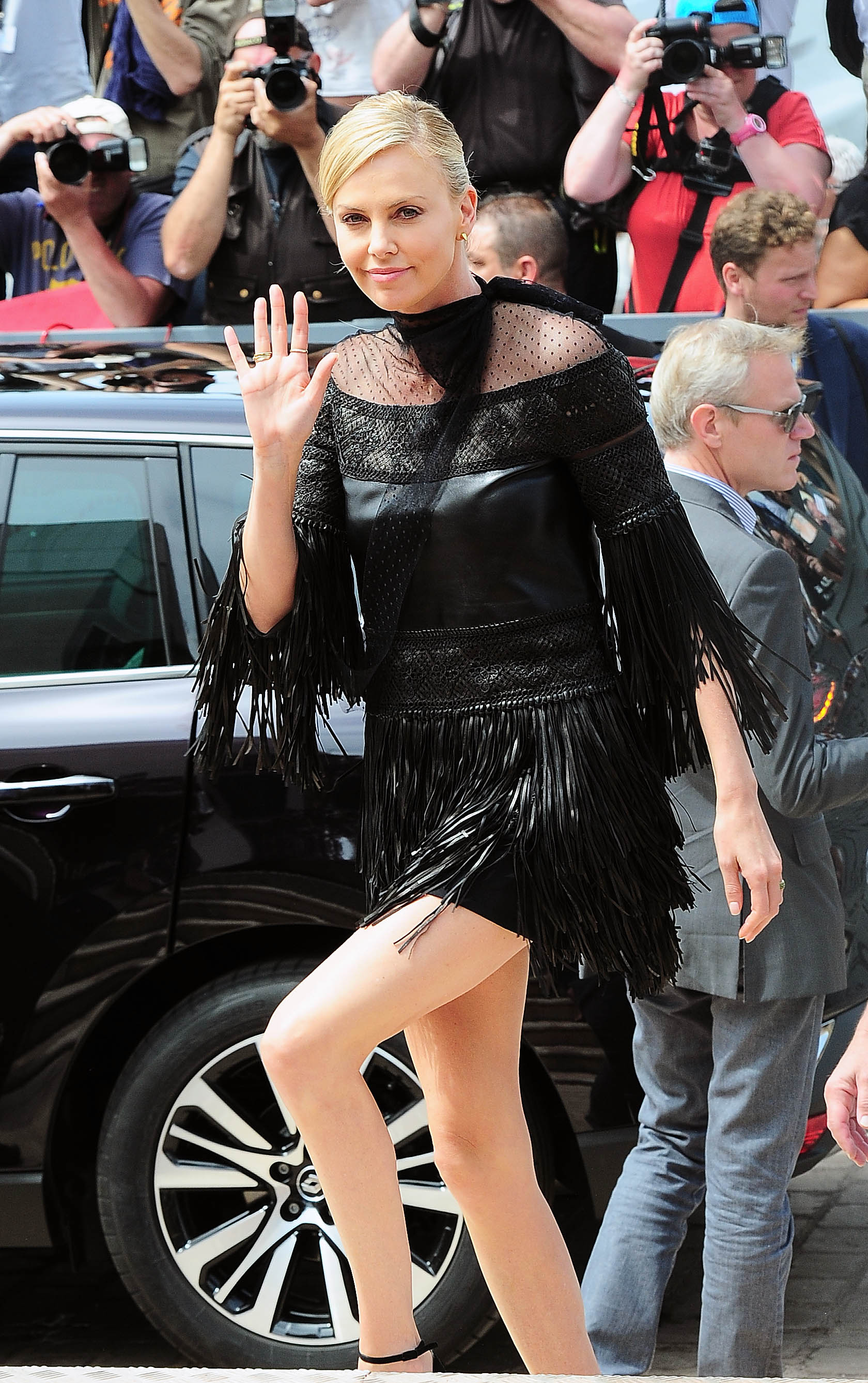 Charlize Theron attends Mad Max Fury Road Photocall