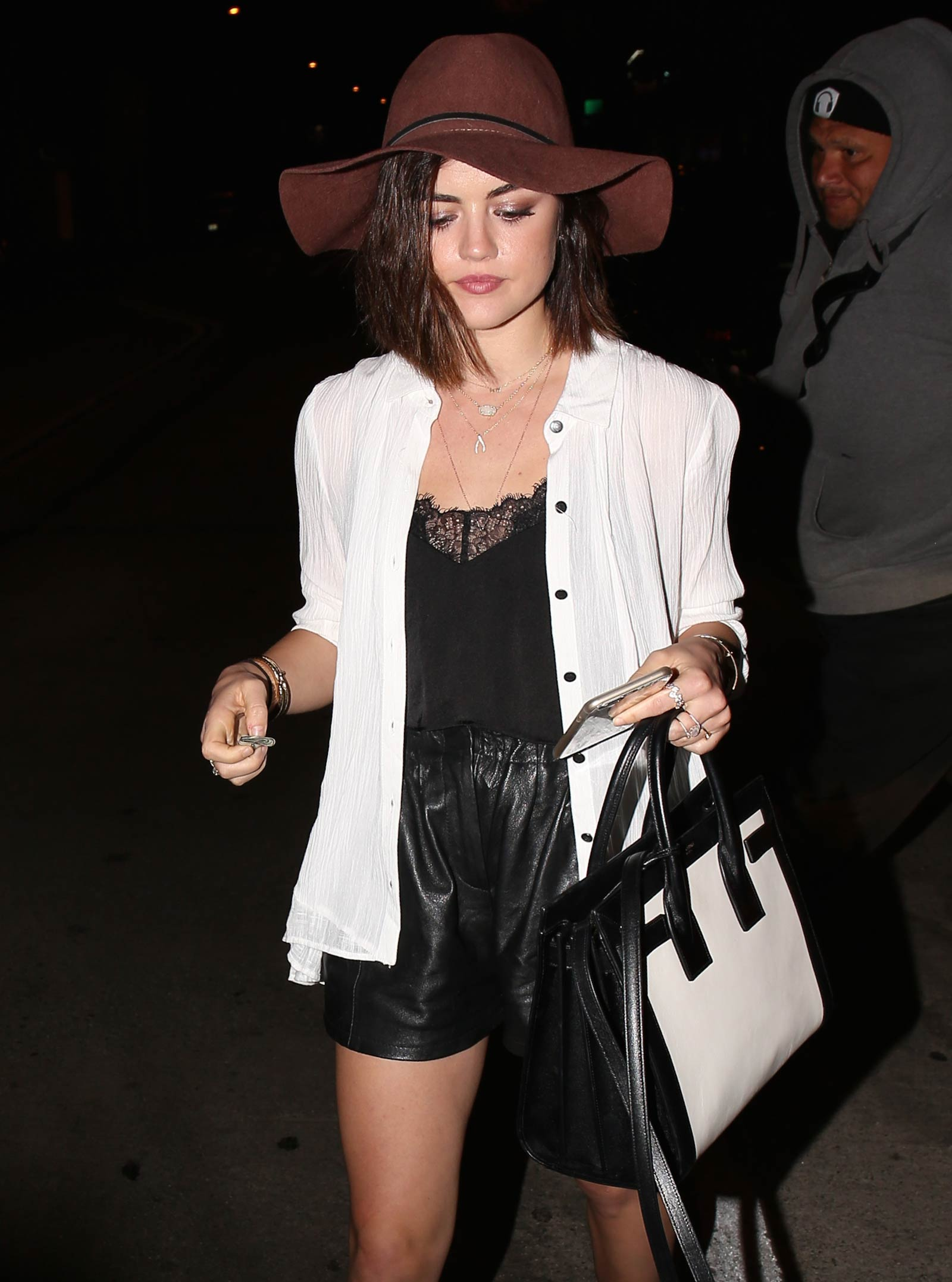 Lucy Hale leaving Gracias Madre in West Hollywood