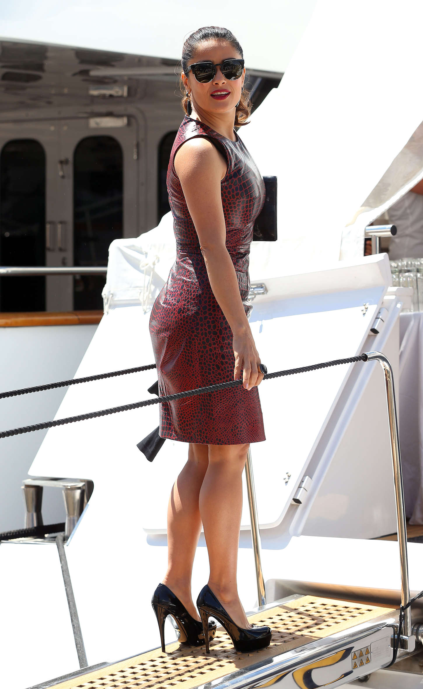 Gallery - Leather Celebrities Salma Hayek