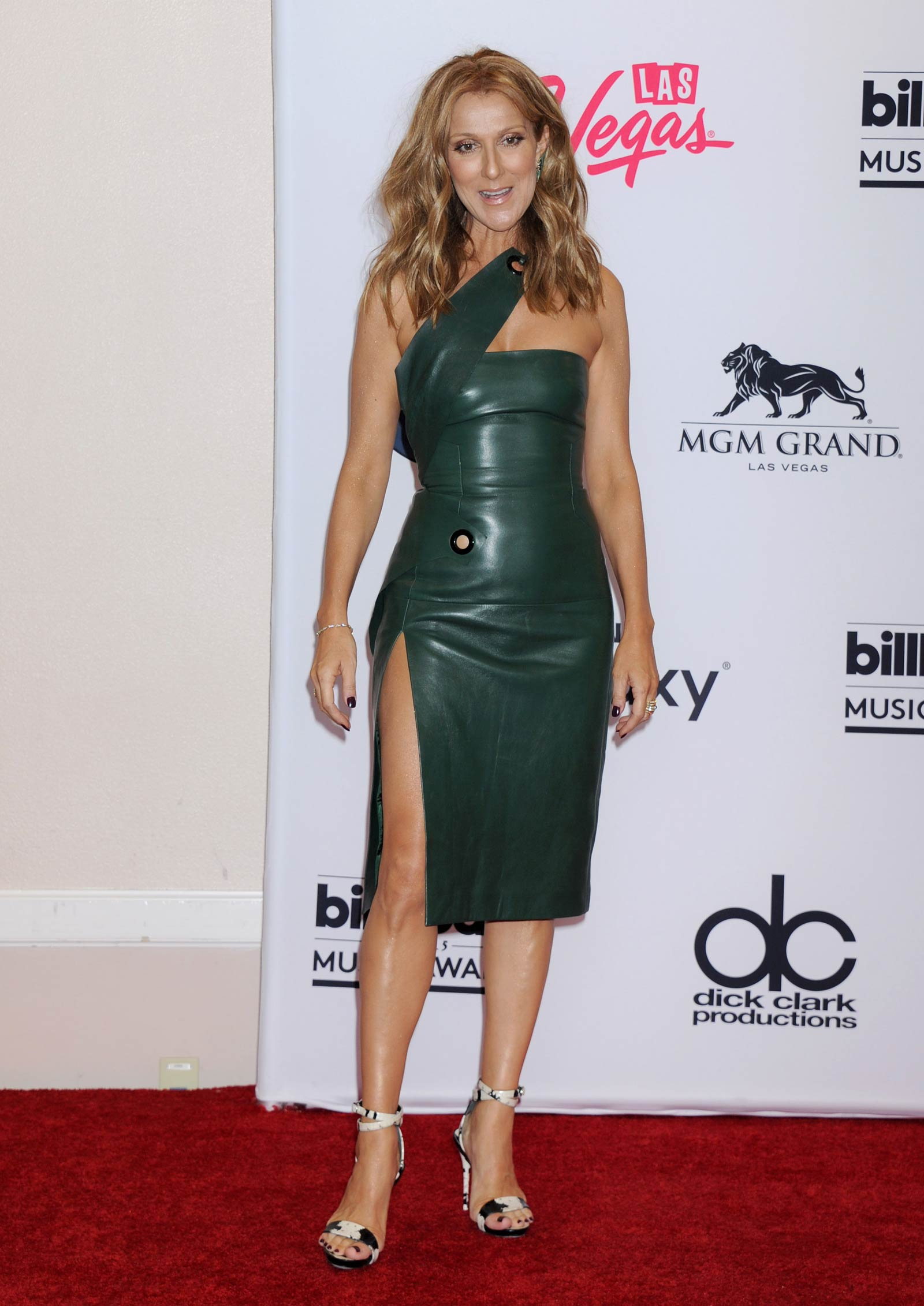 Celine Dion attends the 2015 Billboard Music Awards