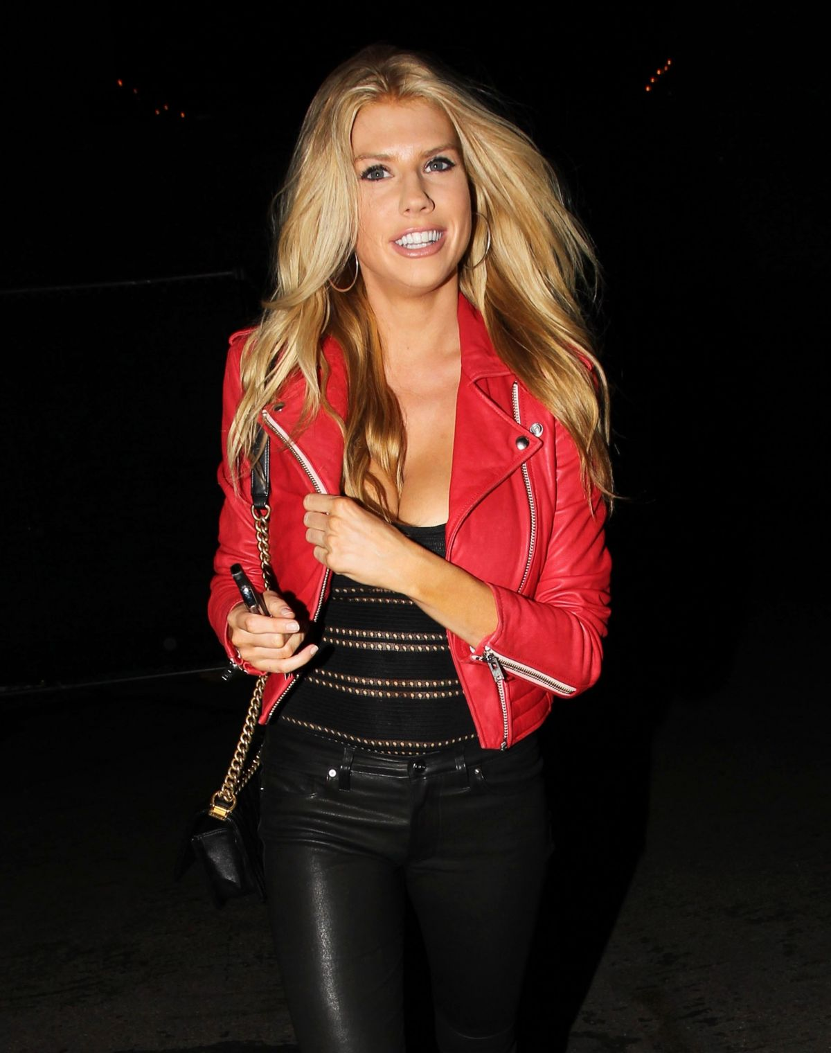 Charlotte McKinney attends Rolling Stones Concert