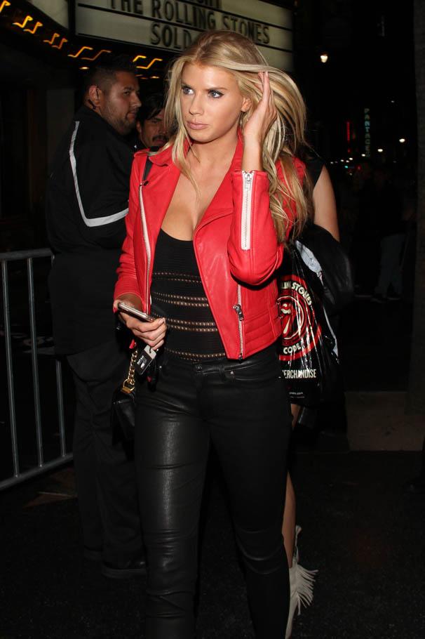 Charlotte McKinney attends Rolling Stones Concert