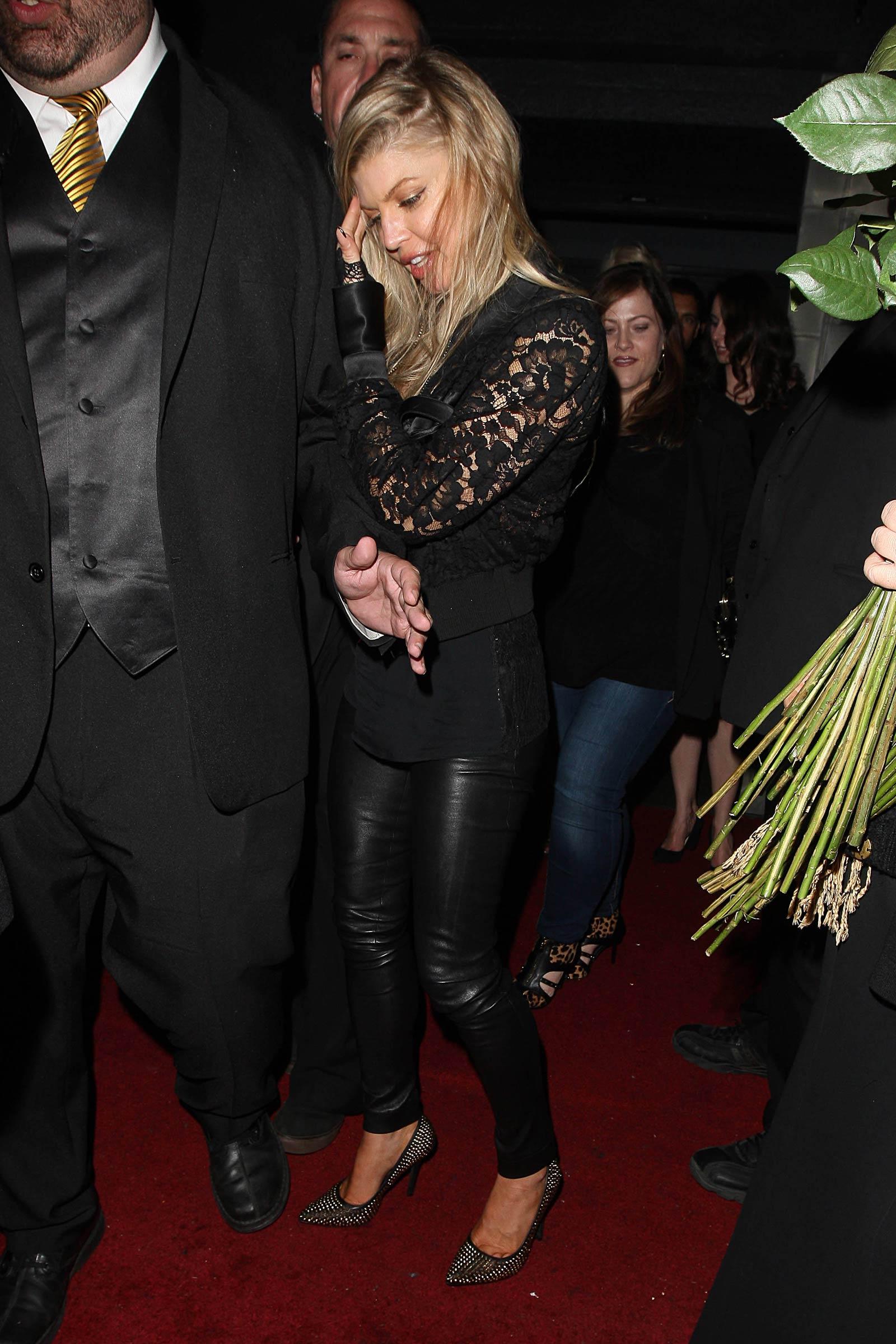 Stacy Ferguson leaving Warwick Nightclub