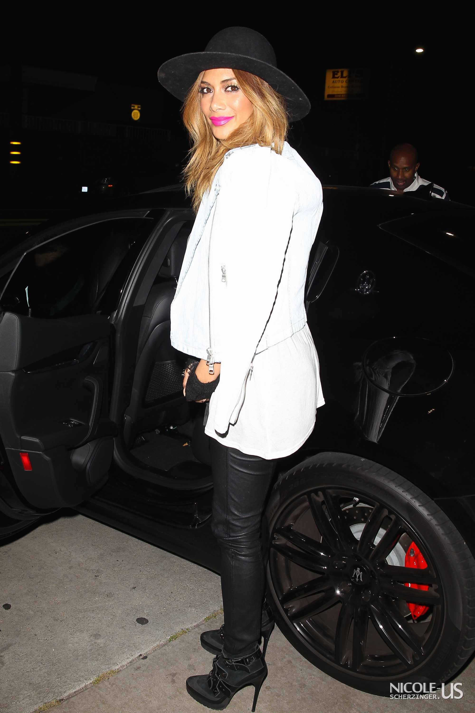 Nicole Scherzinger dinner at Toca Madera