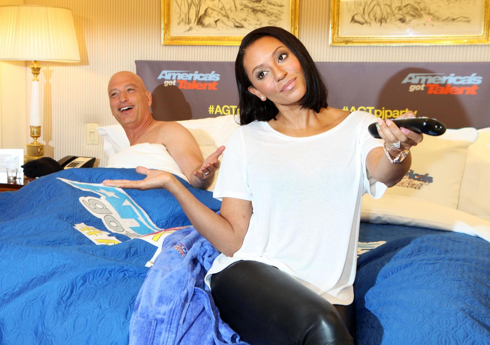 Mel B poses during America's Got Talent Season 10 Premiere Pajama Party