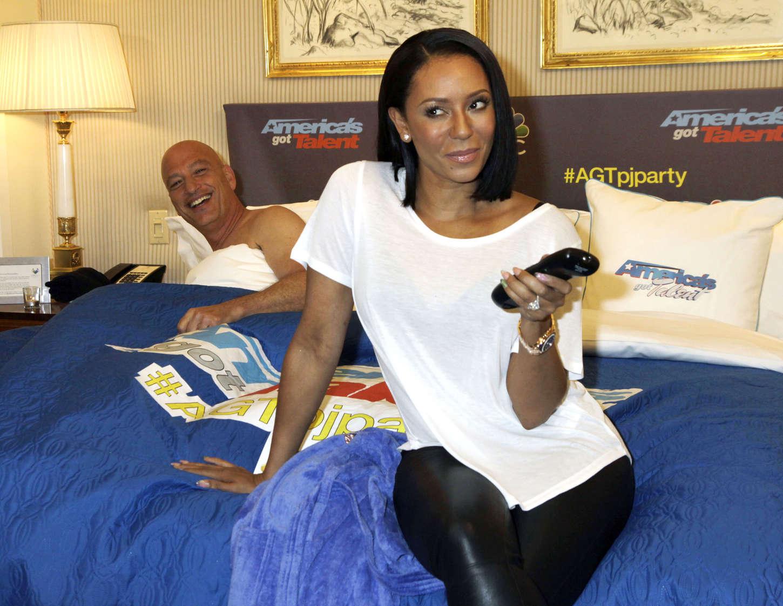 Mel B poses during America's Got Talent Season 10 Premiere Pajama Party