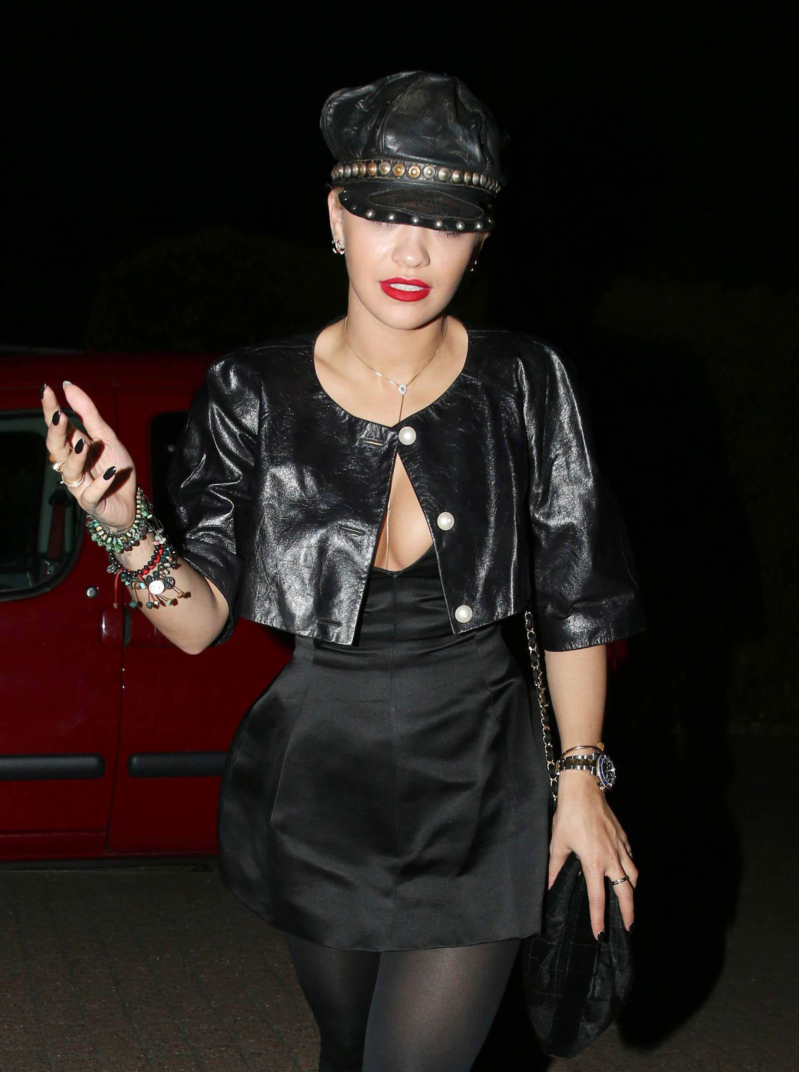 Rita Ora seen at Chiltern Firehouse