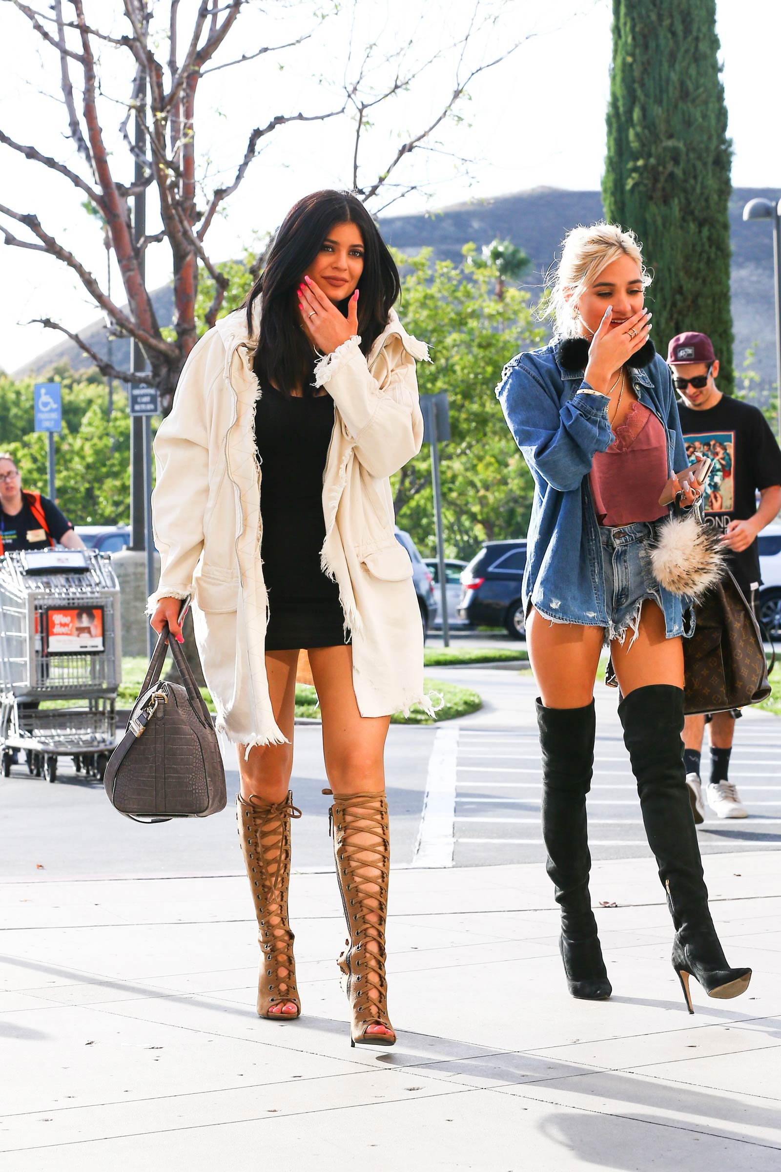Kylie Jenner and Pia Mia Perez out in Calabasas