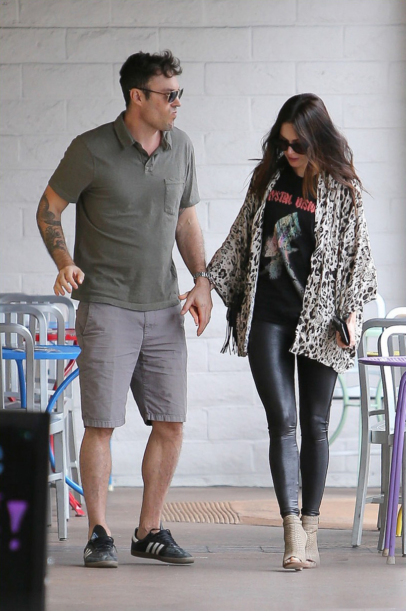 Megan Fox and her husband enjoying a lunch date