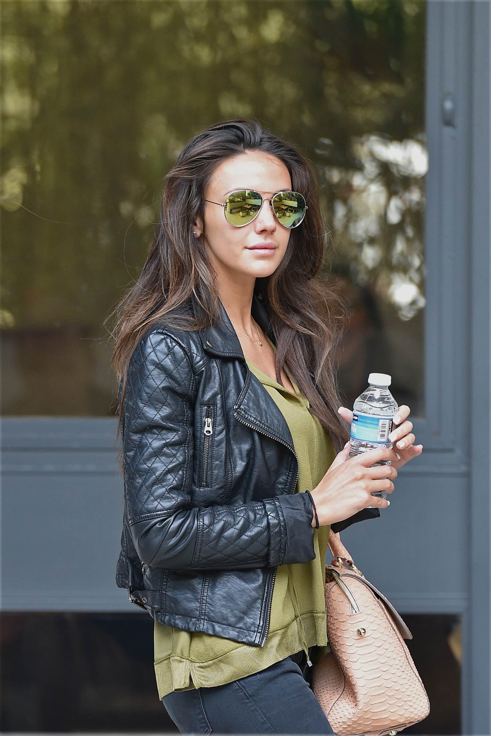 Michelle Keegan seen outside leaving the London Studios