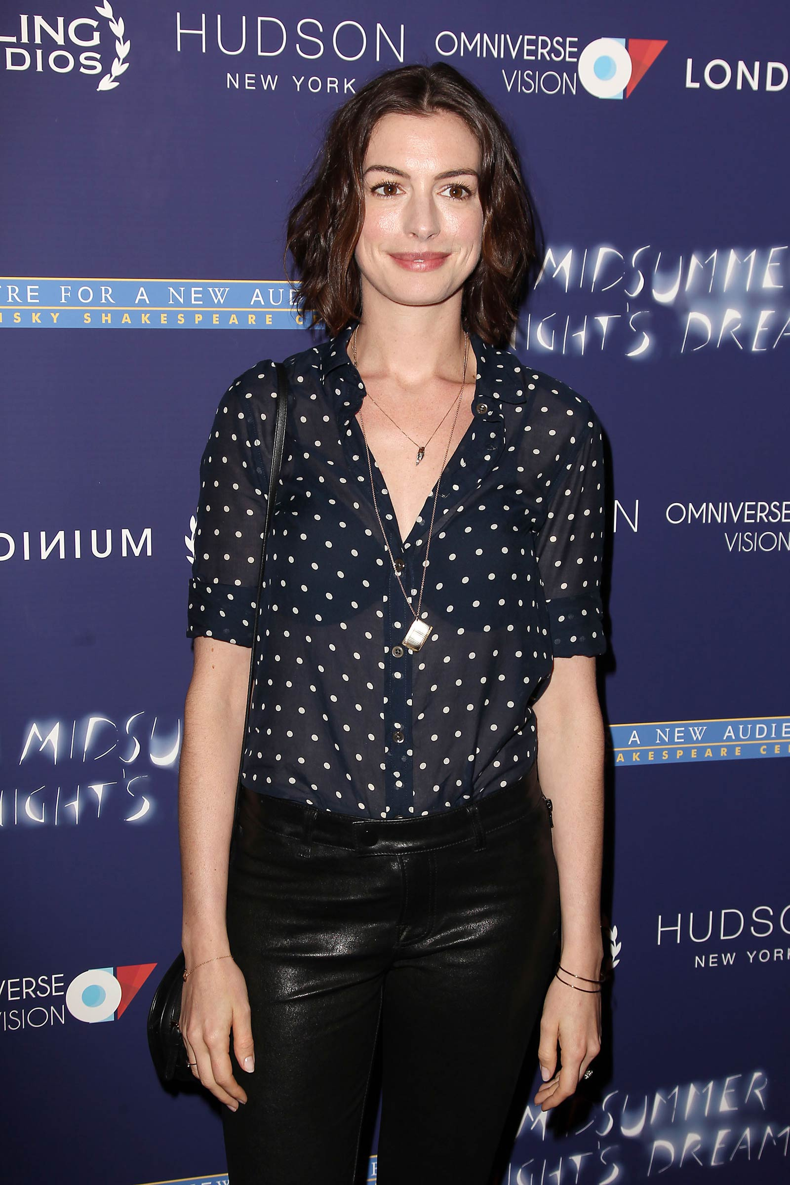 Anne Hathaway attends A Midsummer Night's Dream premiere