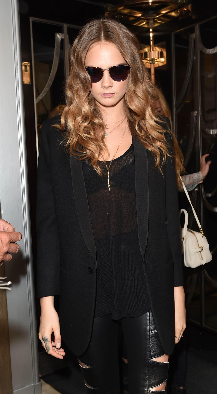 Cara Delevingne leaving her hotel in London