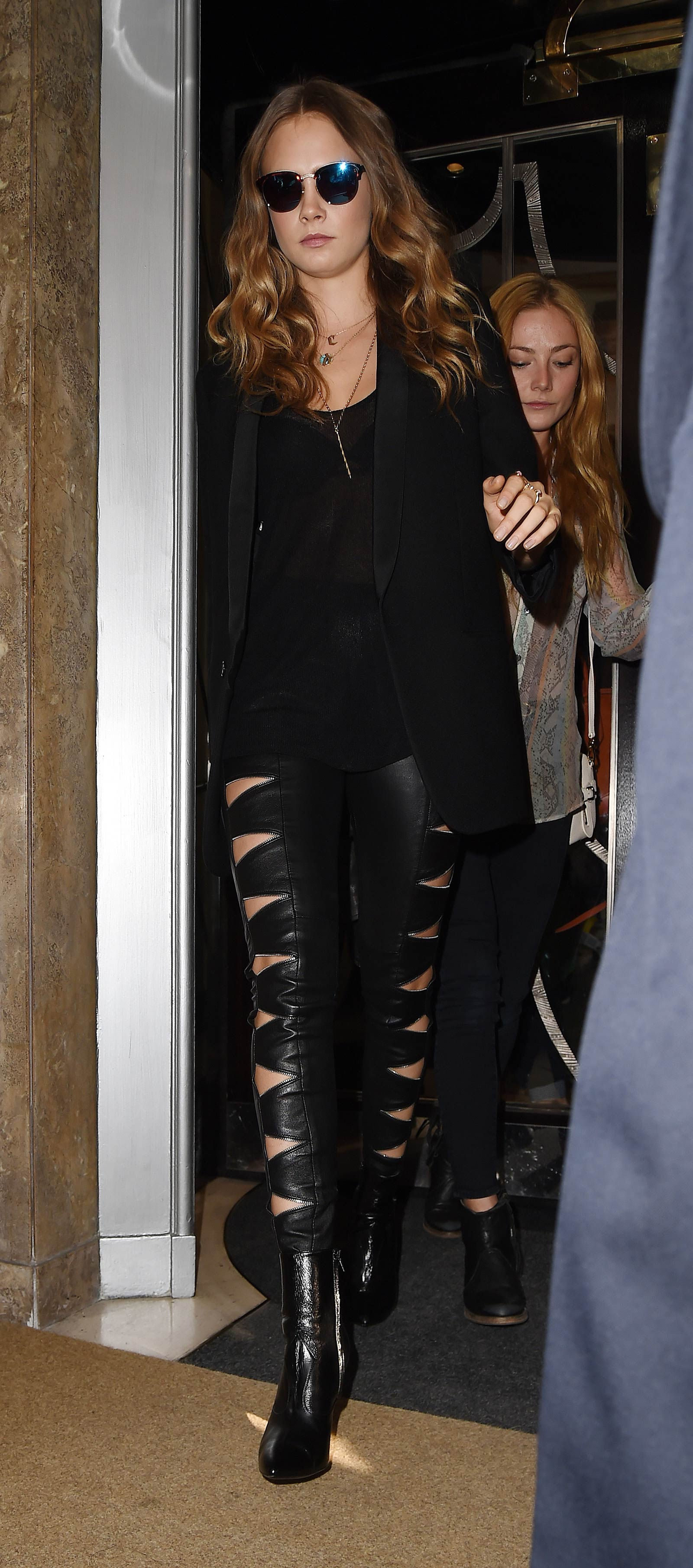 Cara Delevingne leaving her hotel in London