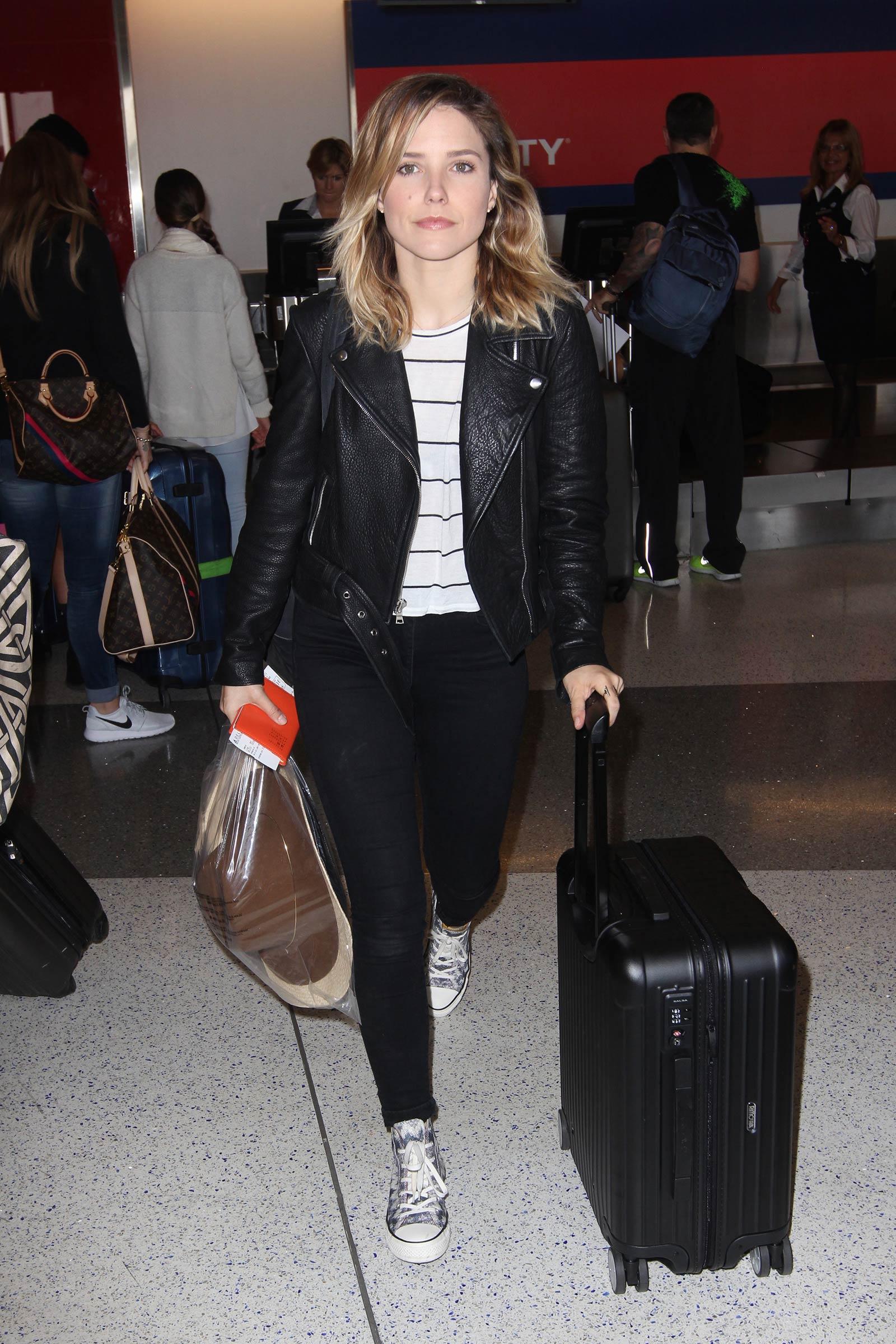 Sophia Bush at LAX airport in Los Angel