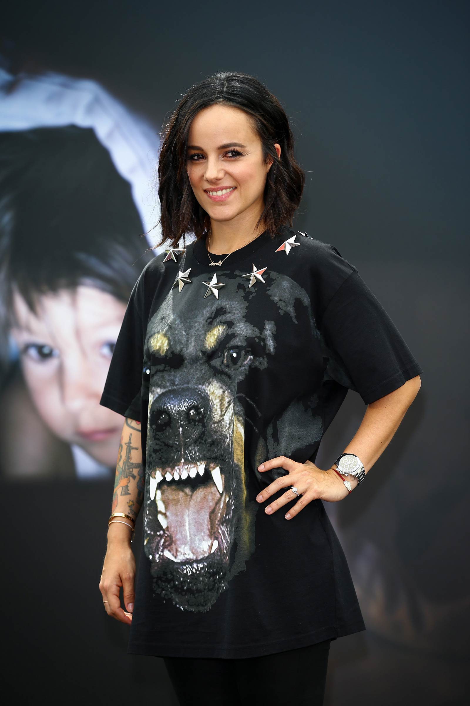 Alizee attends photocall for 'Dance with the Stars'