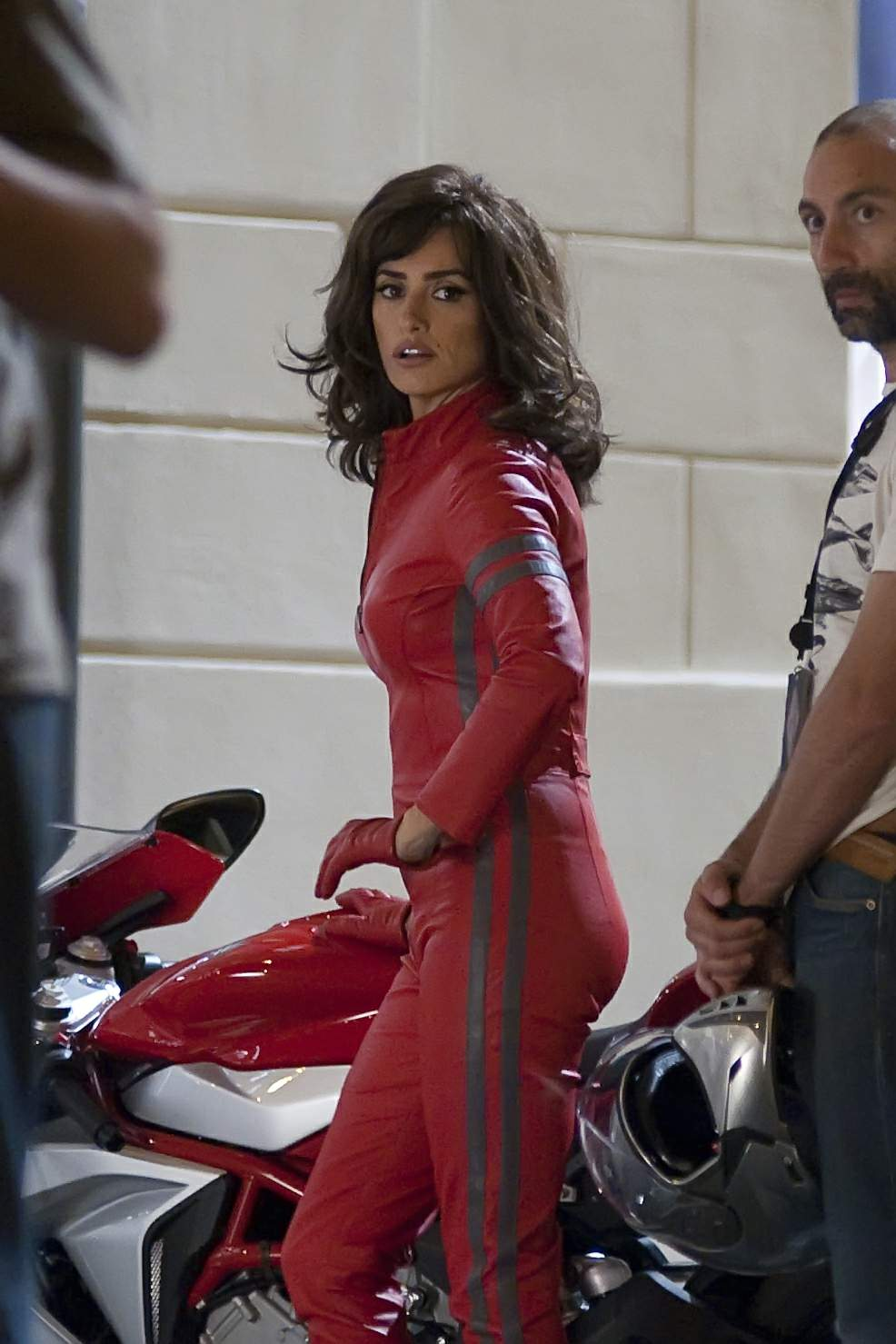 Penelope Cruz Filming scenes for Zoolander 2
