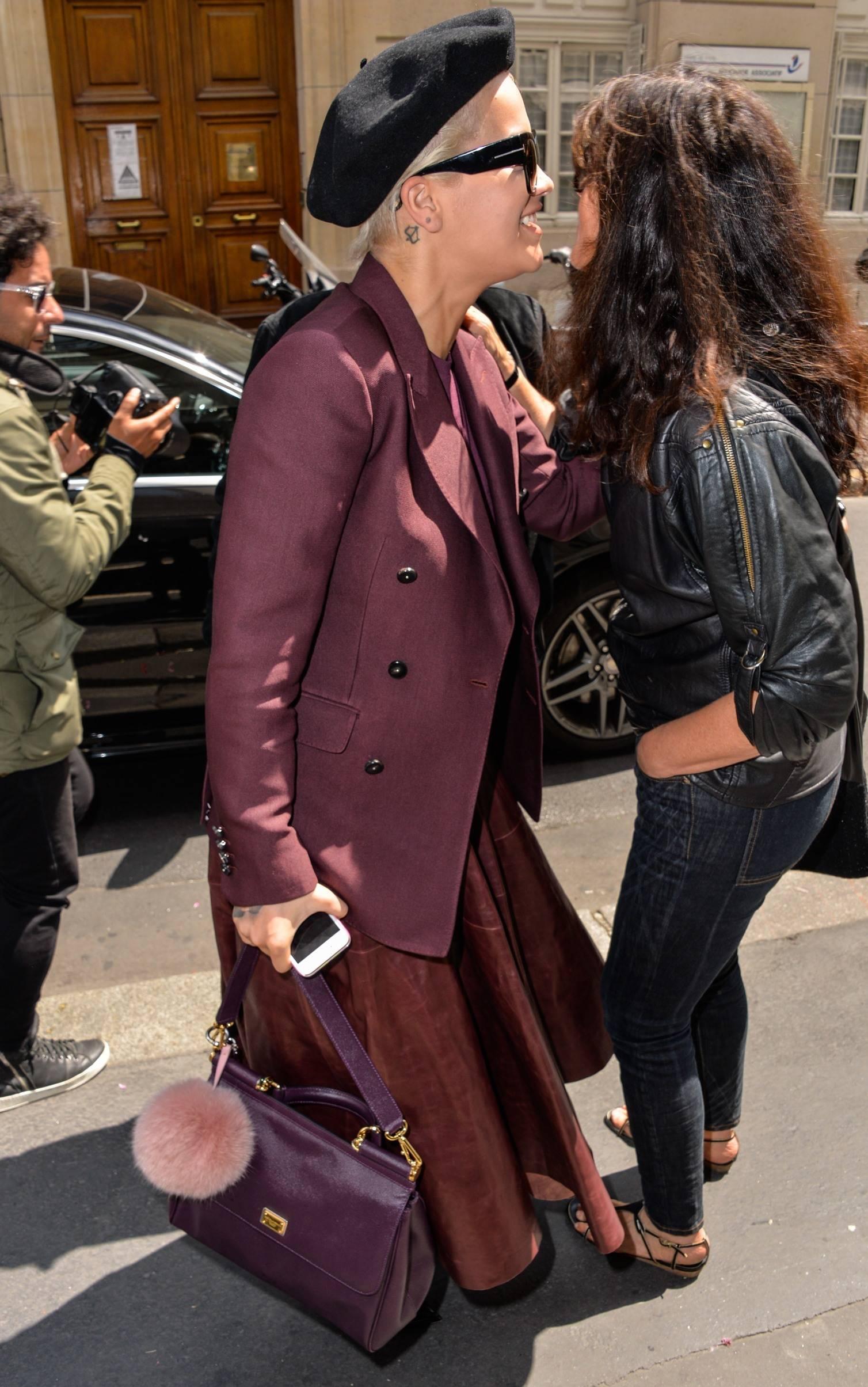 Rita Ora leaving her hotel in Paris