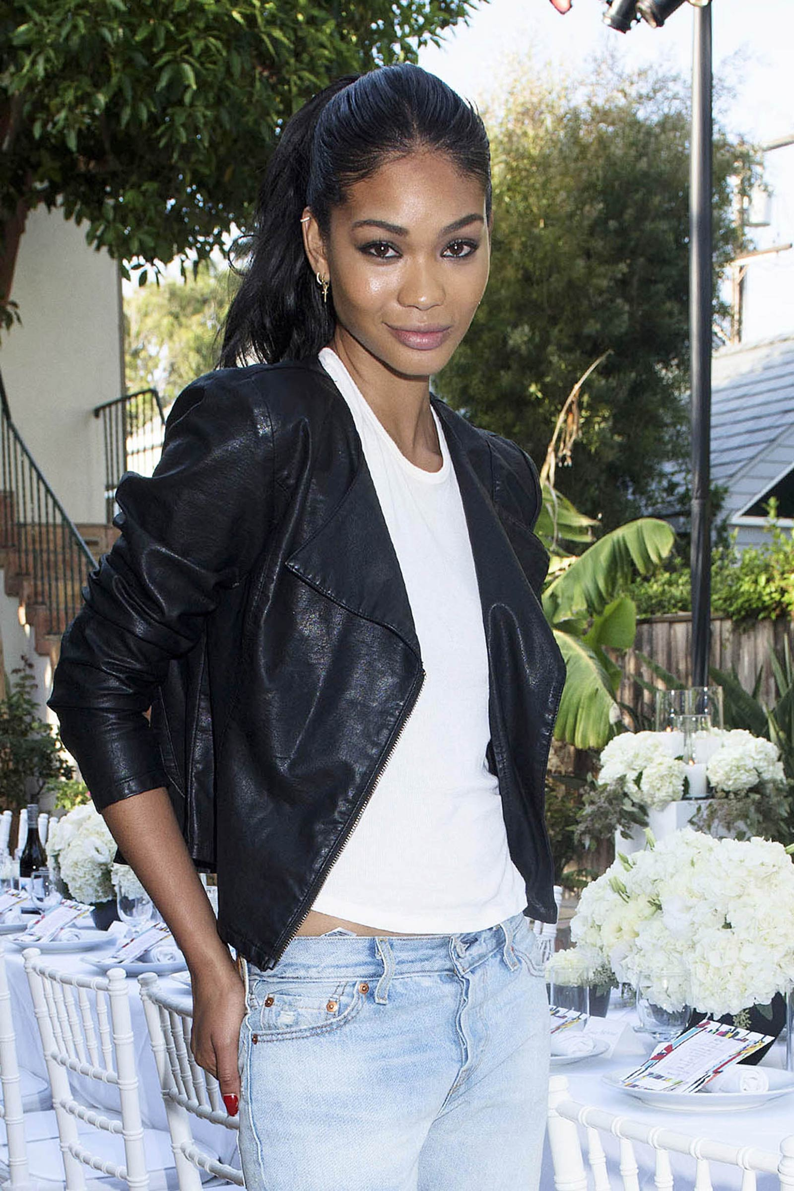 Chanel Iman attends Just Jared Dinner