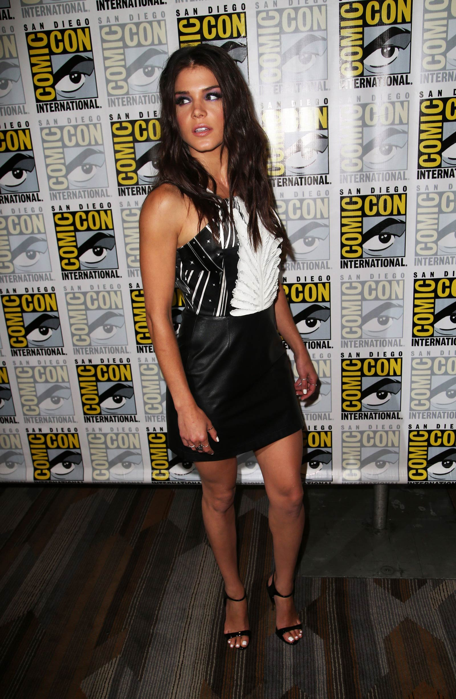 Marie Avgeropoulos attends The 100 Press Line