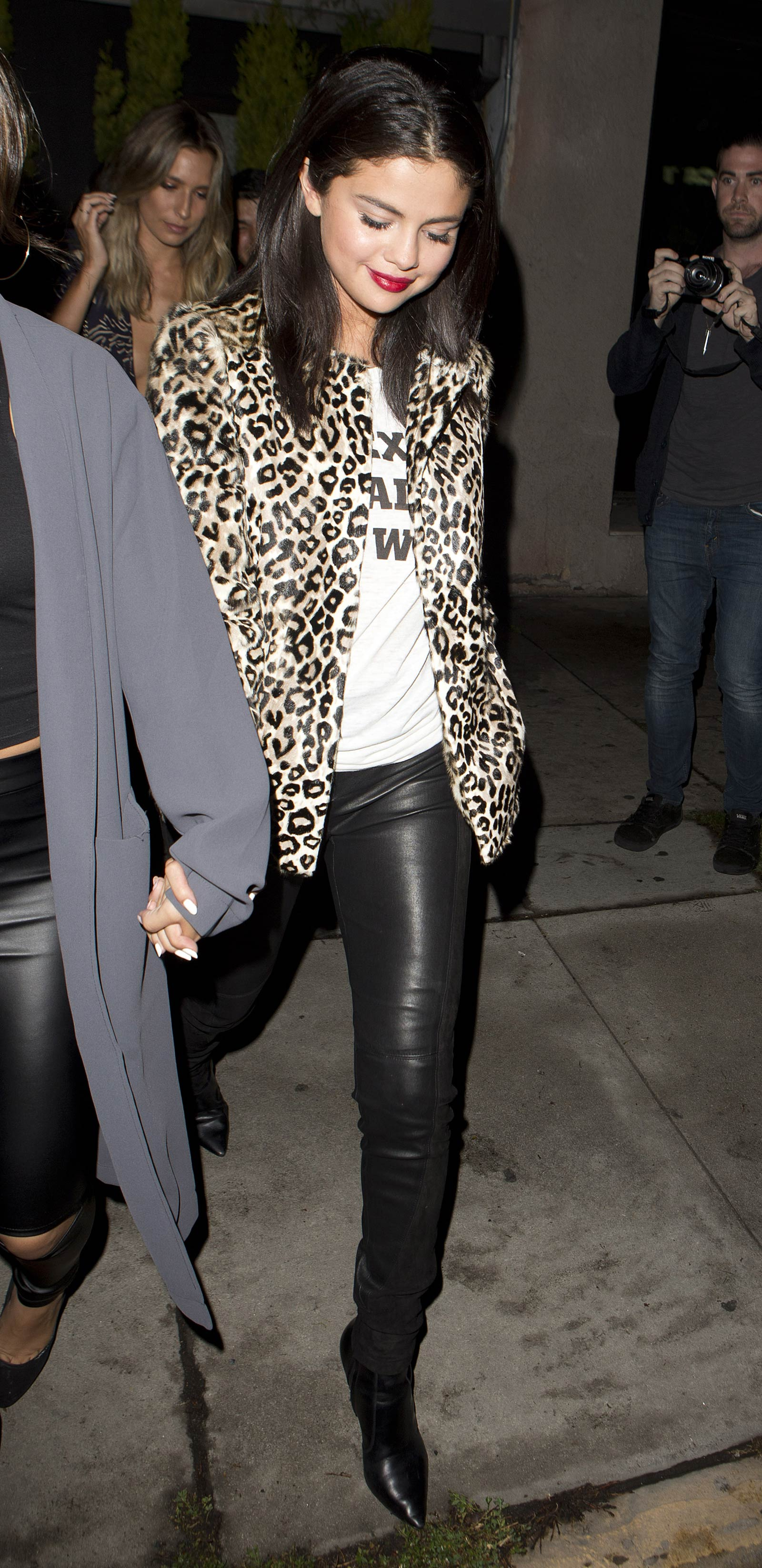 Selena Gomez & Francia Raisa leaving The Nice Guy Restaurant