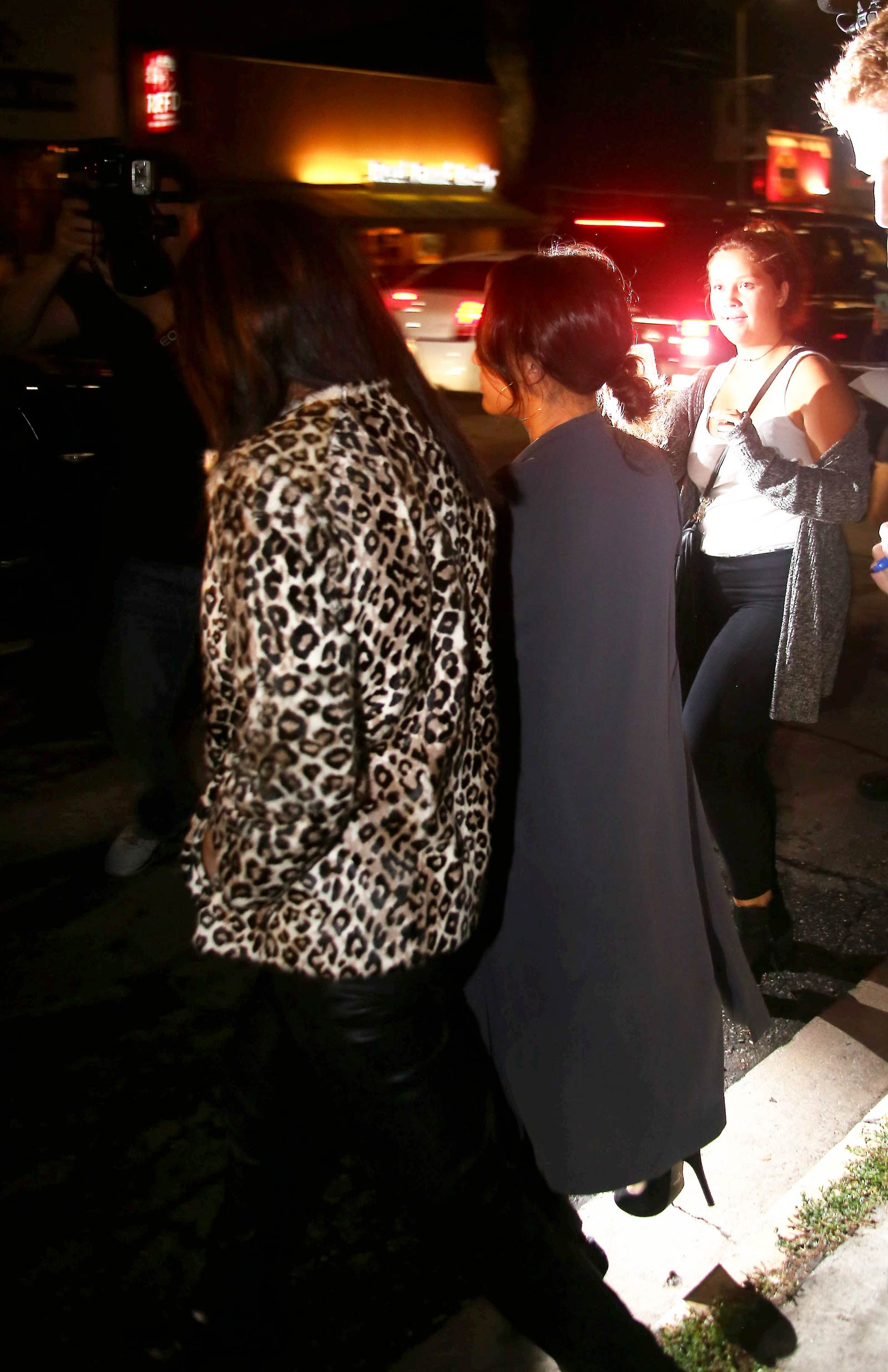 Selena Gomez & Francia Raisa leaving The Nice Guy Restaurant