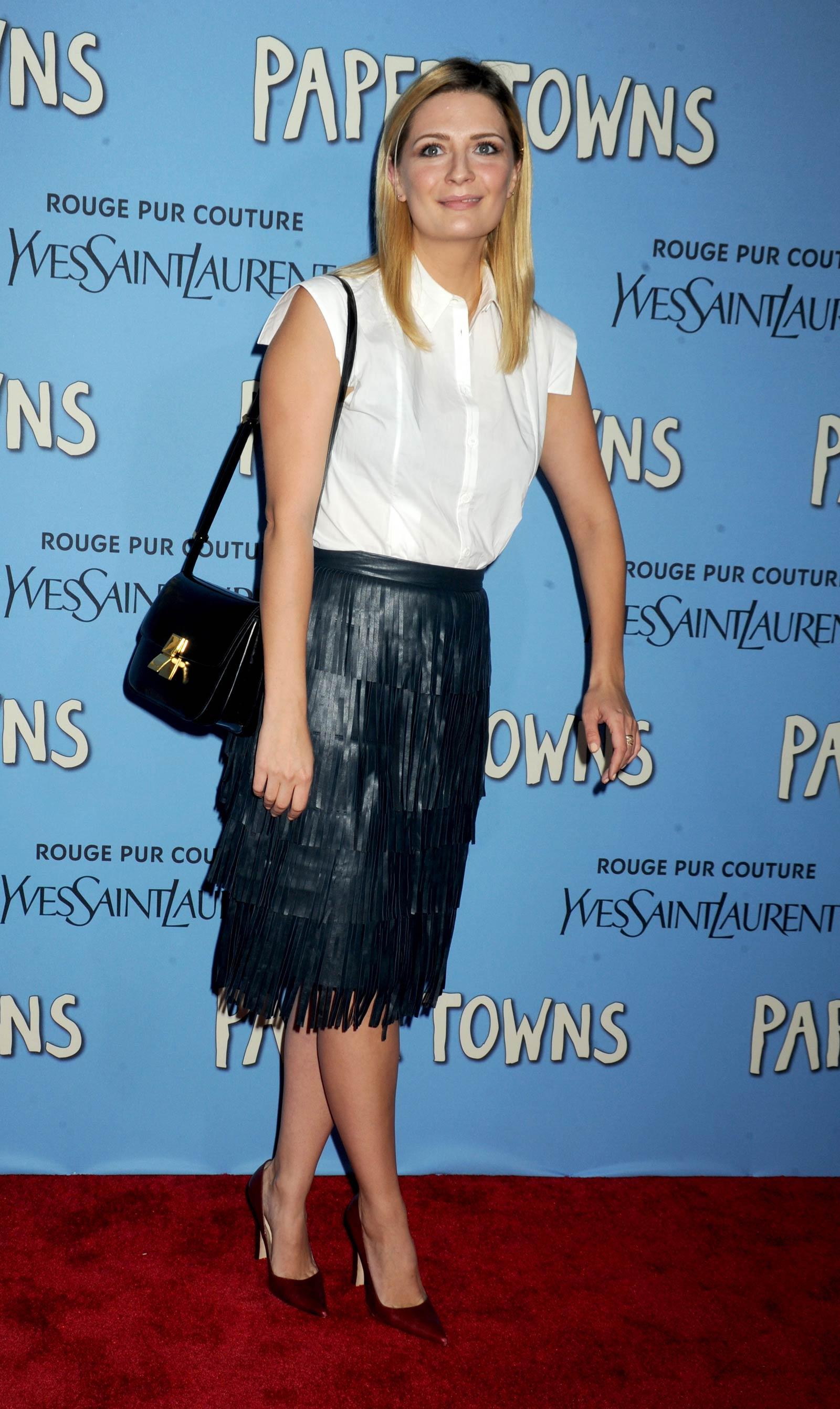 Mischa Barton attends Paper Towns New York Premiere