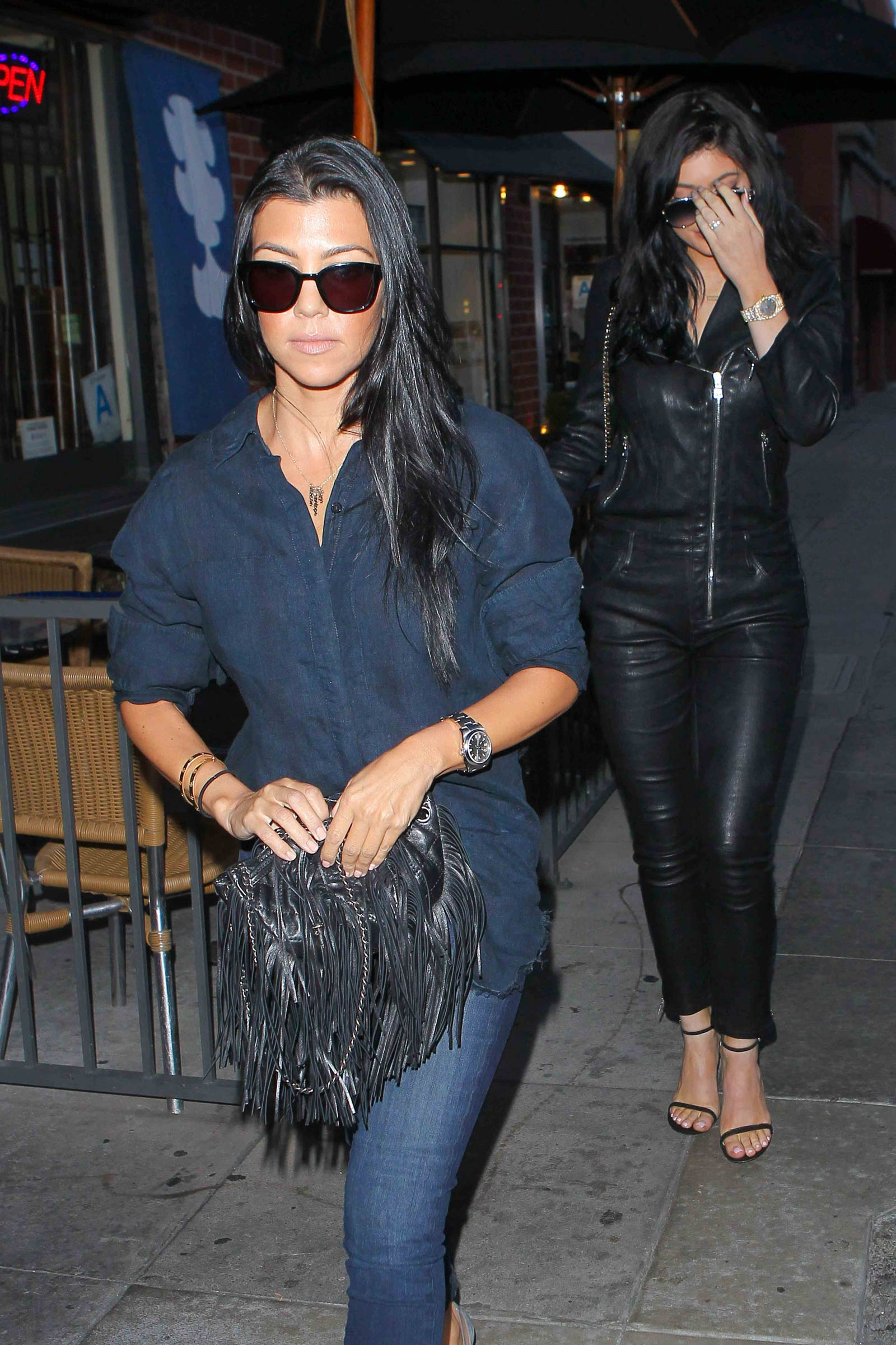 Kylie Jenner and Kourtney Kardashian out in Beverly Hills