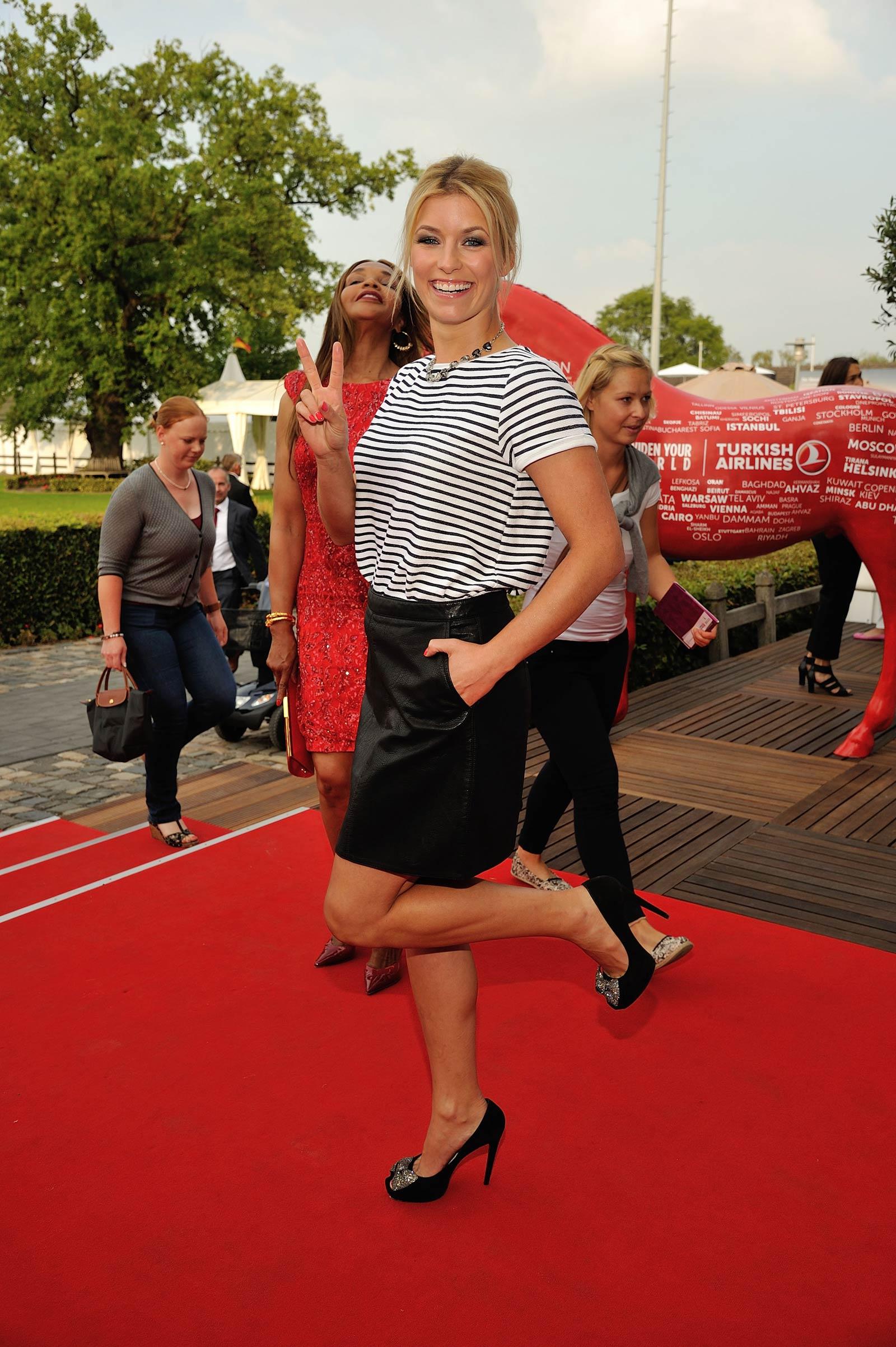 Annica Hansen attends Media Night during FEI European Championship