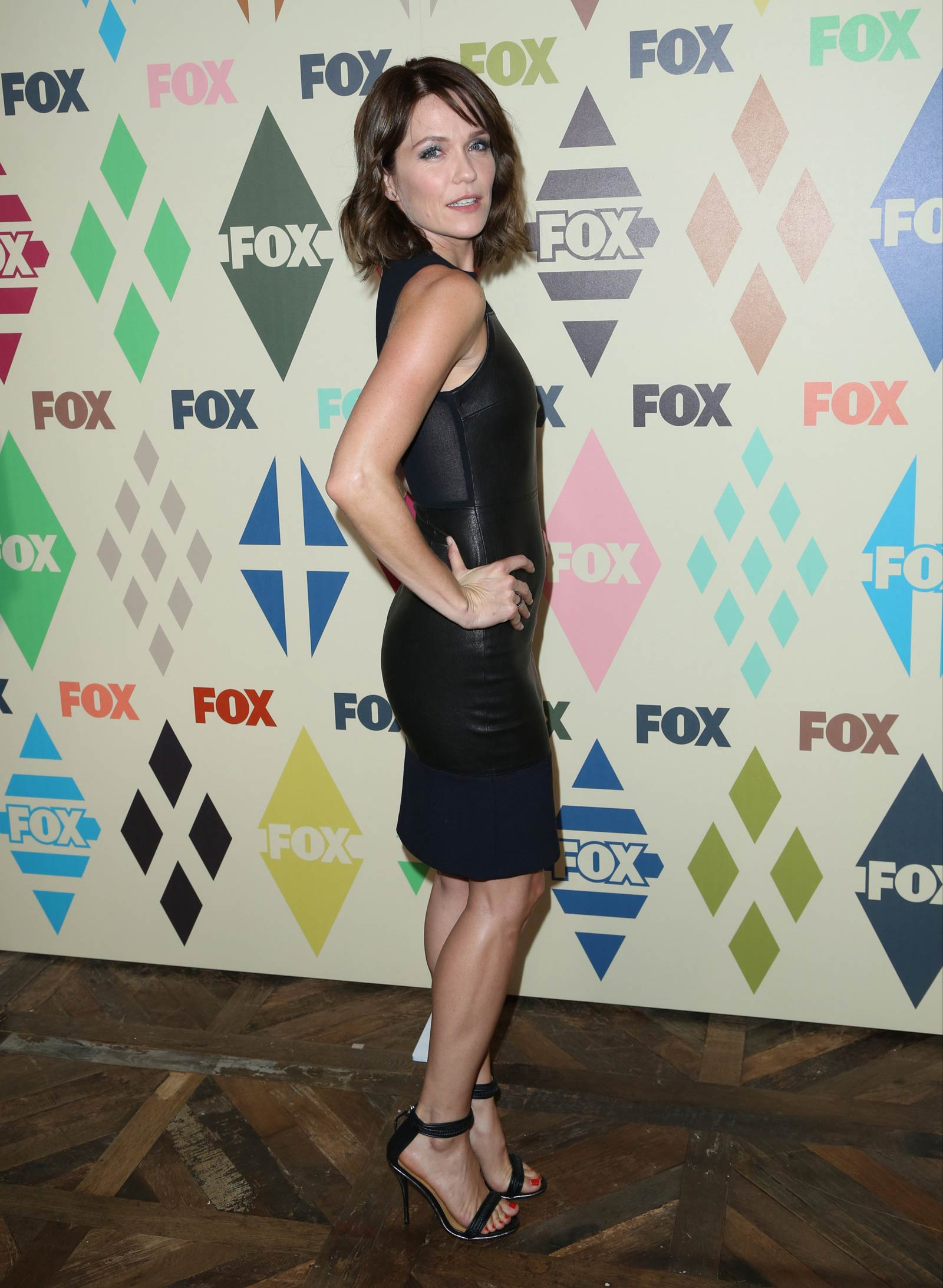 Katie Aselton arrives at the FOX TV All-Star party