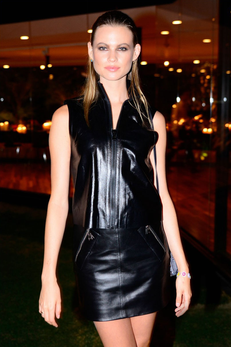 Behati Prinsloo attends a cocktail party for Louis Vuitton