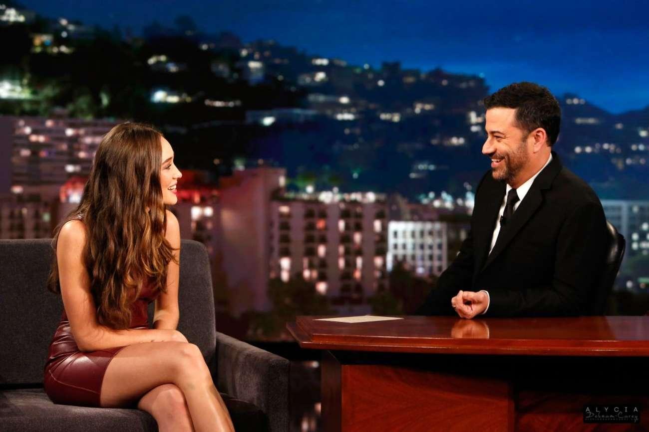 Alycia Debnam Carey at Jimmy Kimmel Live
