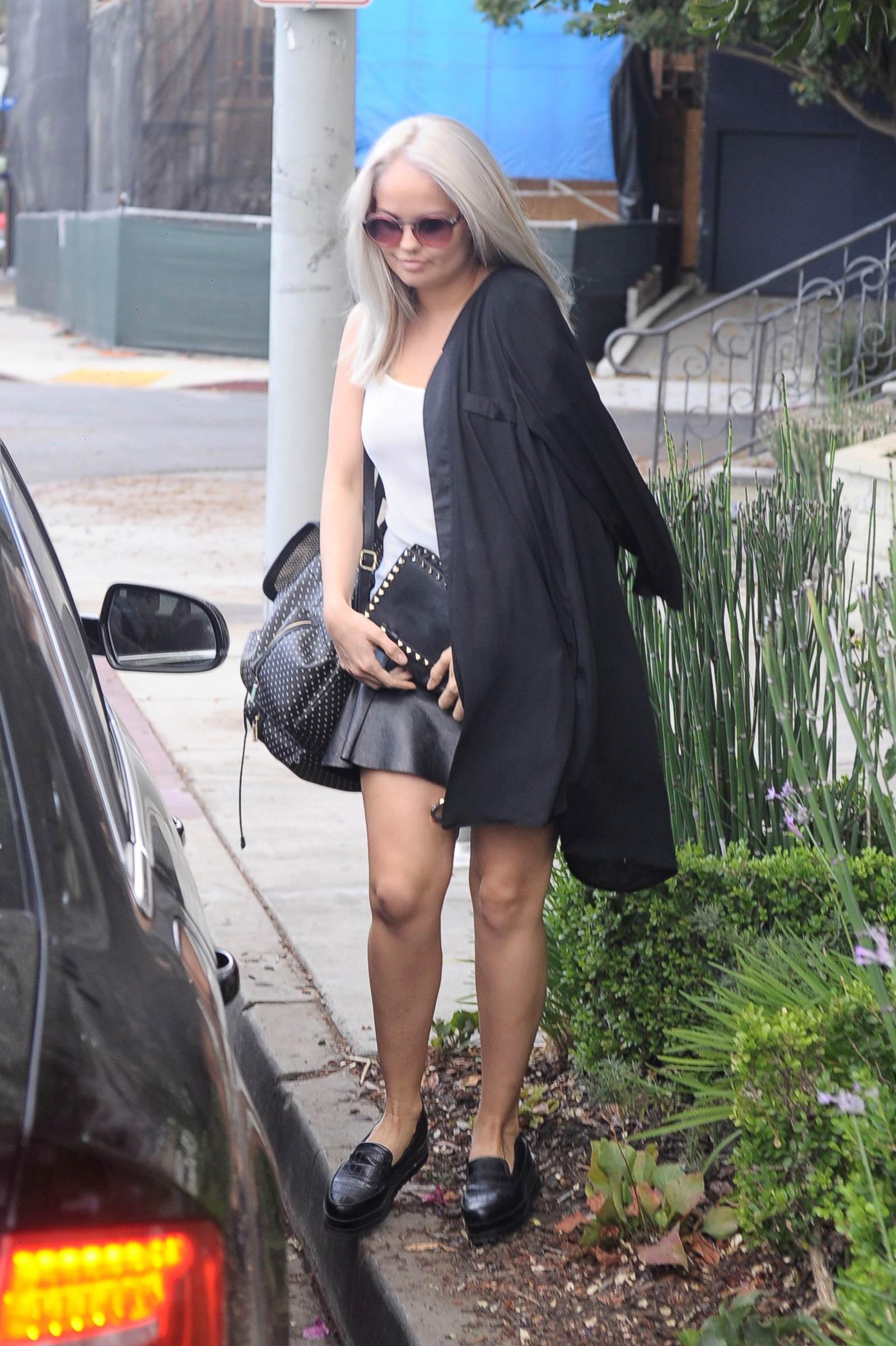 Debby Ryan leaving Ken Paves Salon in Los Angeles