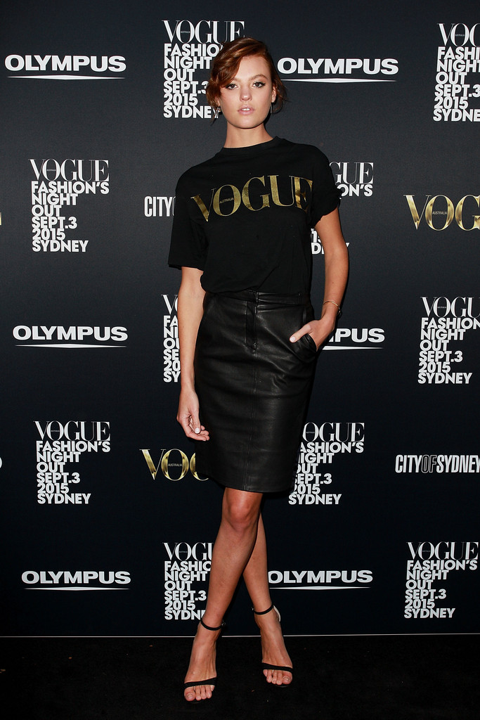 Montana Cox, Jessica Gomes, Eleanor Pendleton, Alli Simpson attend Vogue Fashion's Night Out