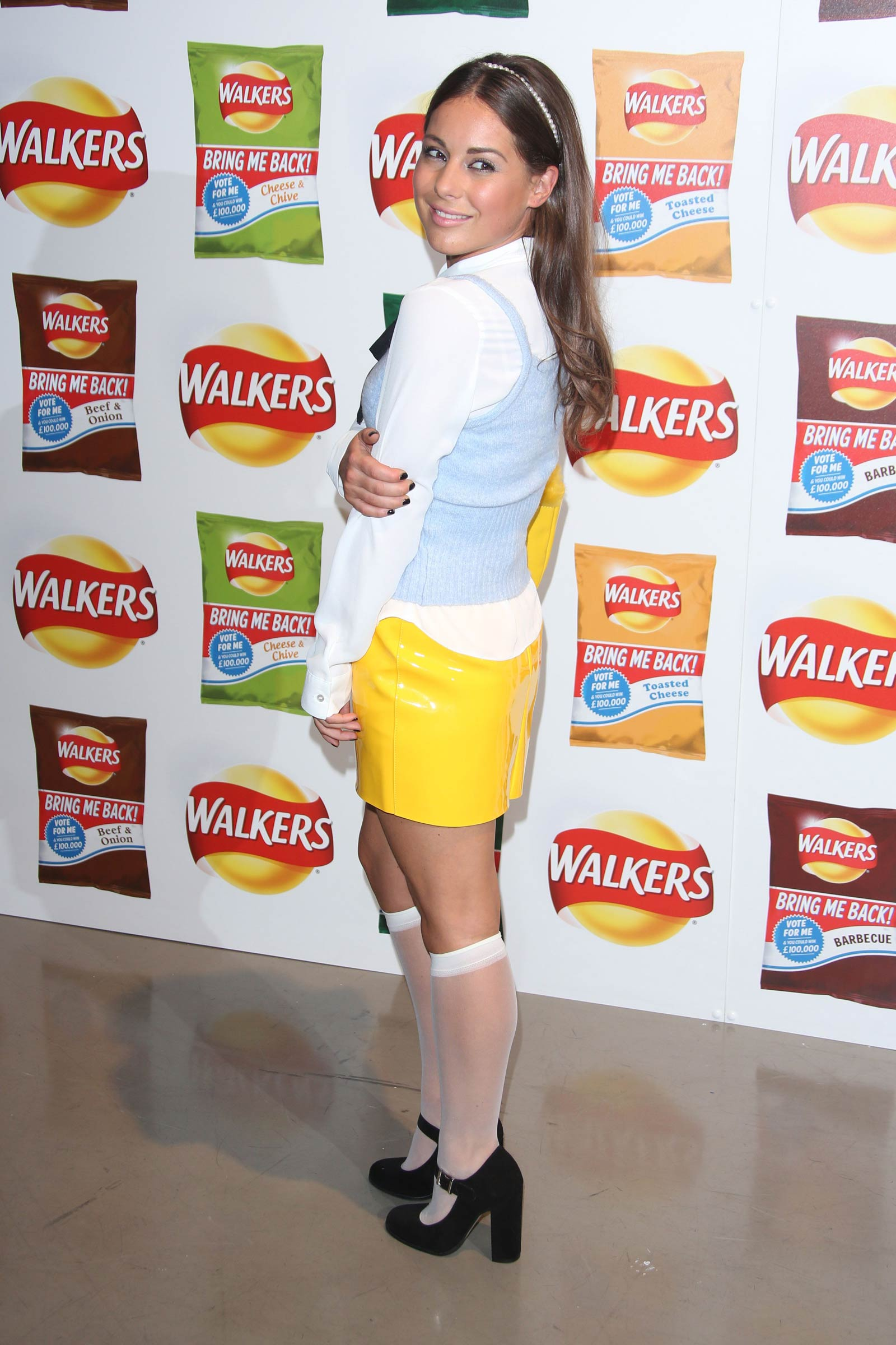 Louise Thompson attends Walkers Bring It Back Launch