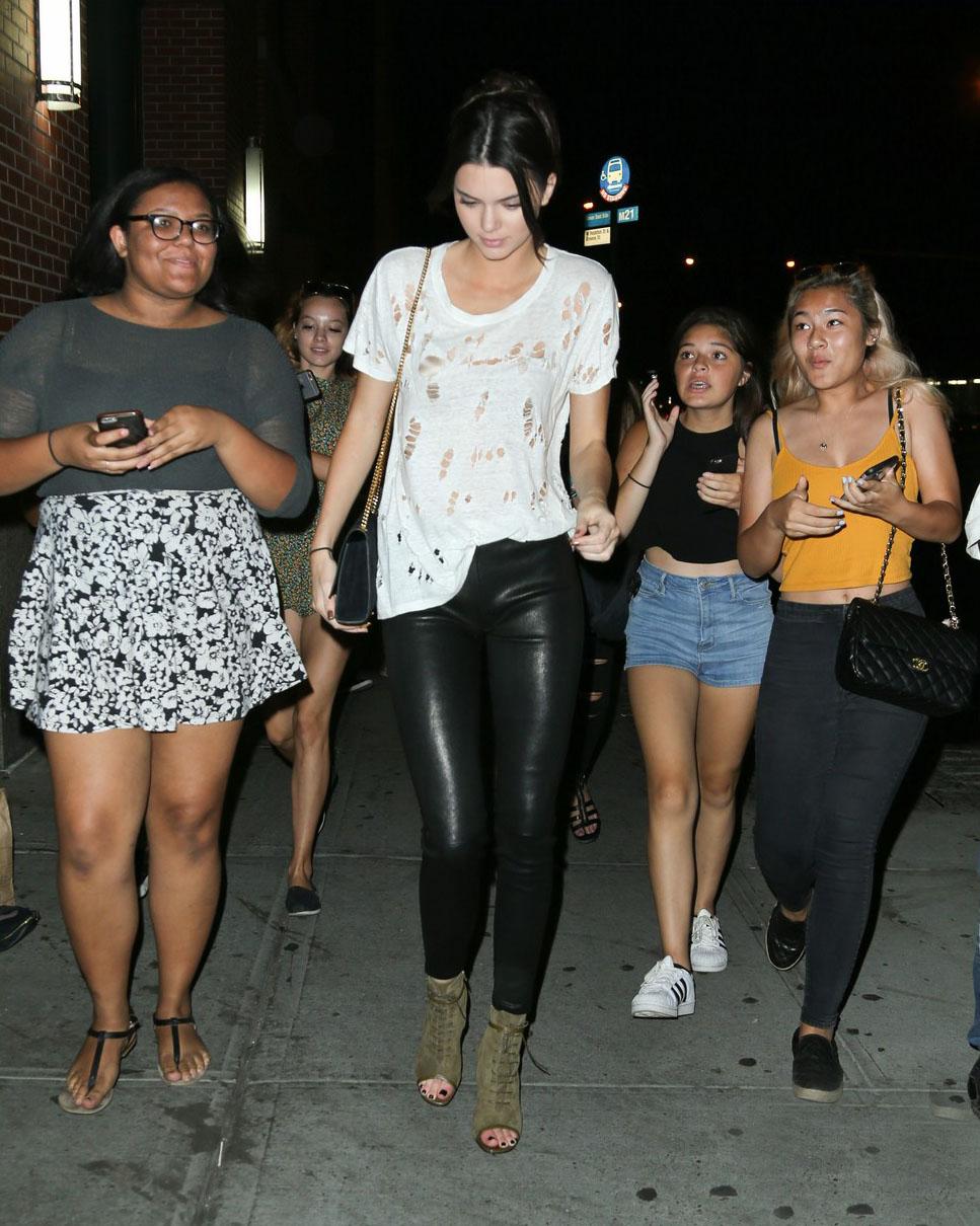 Kendall Jenner is seen in Soho