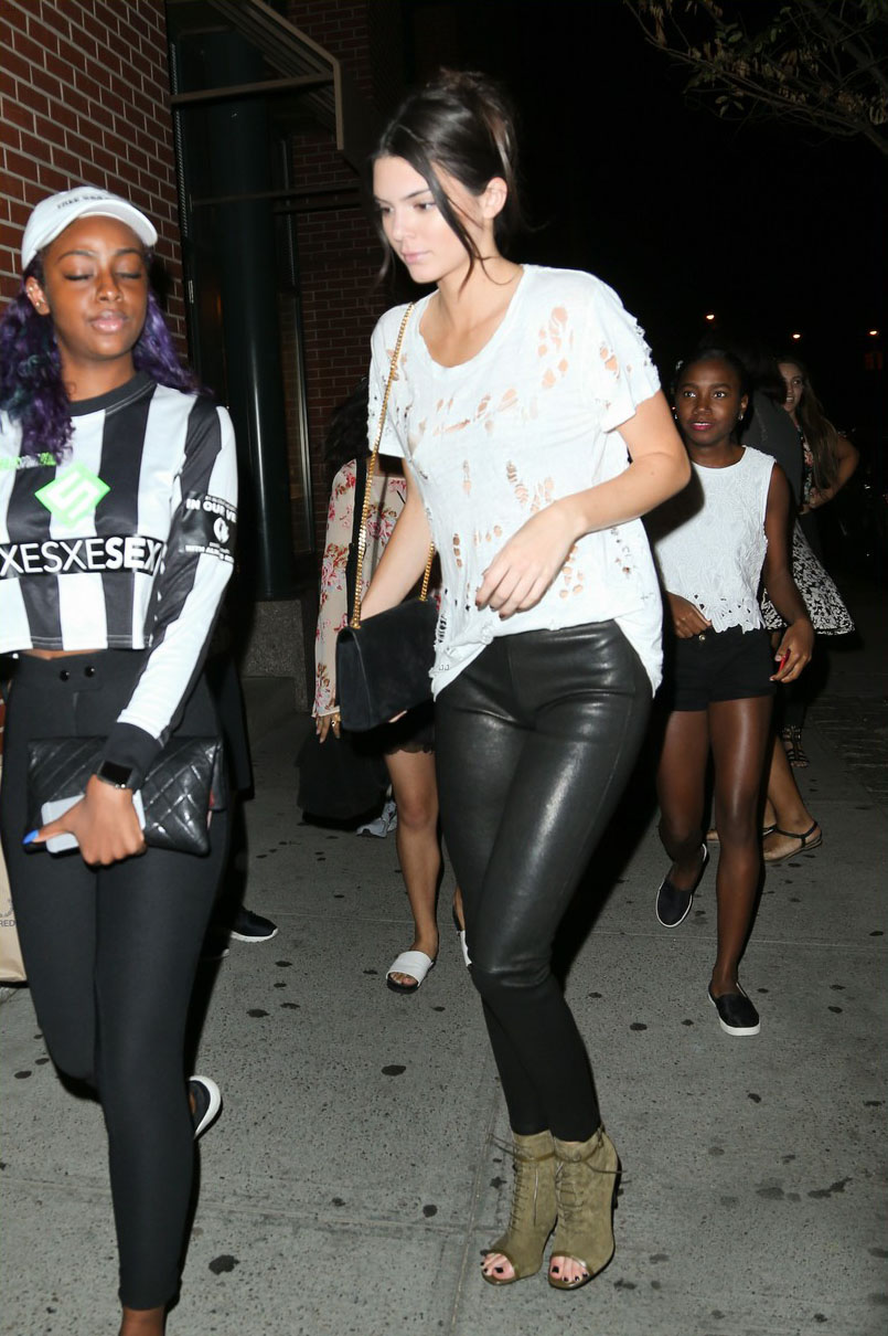 Kendall Jenner is seen in Soho
