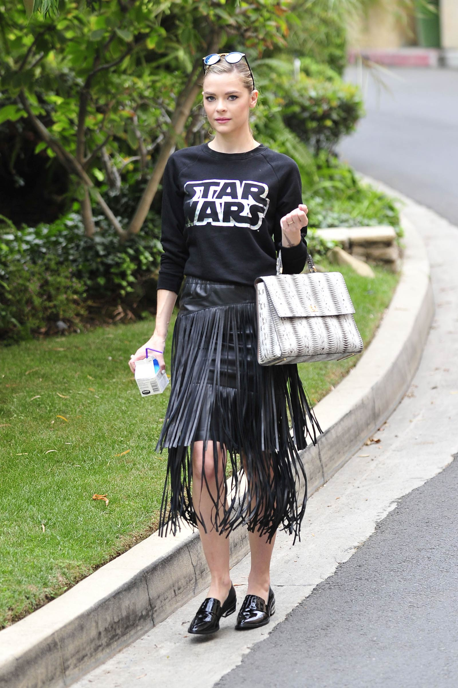 Jaime King leaving a friends house in Hollywood