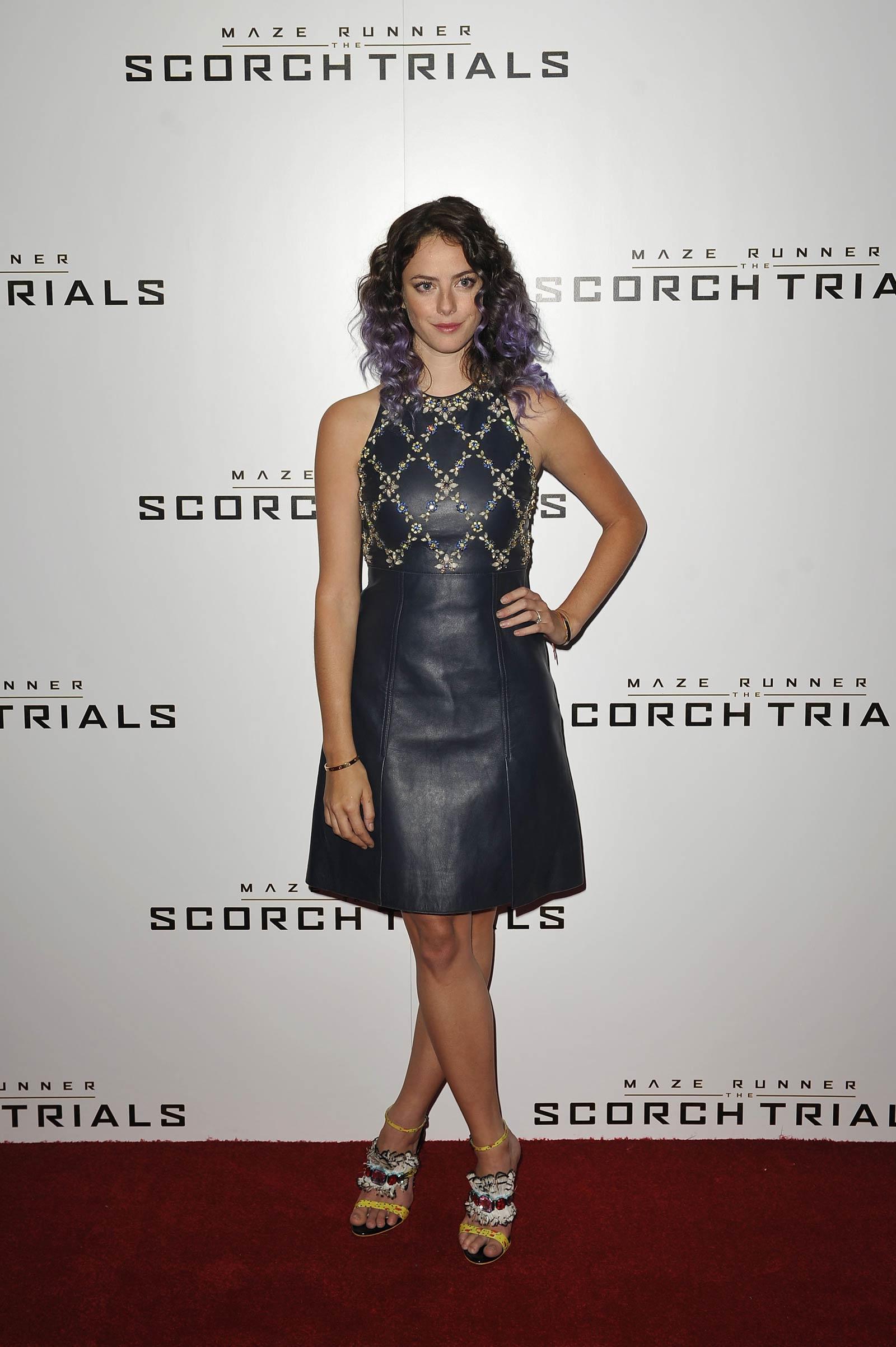 Kaya Scodelario attends Maze Runner The Scorch Trials premiere