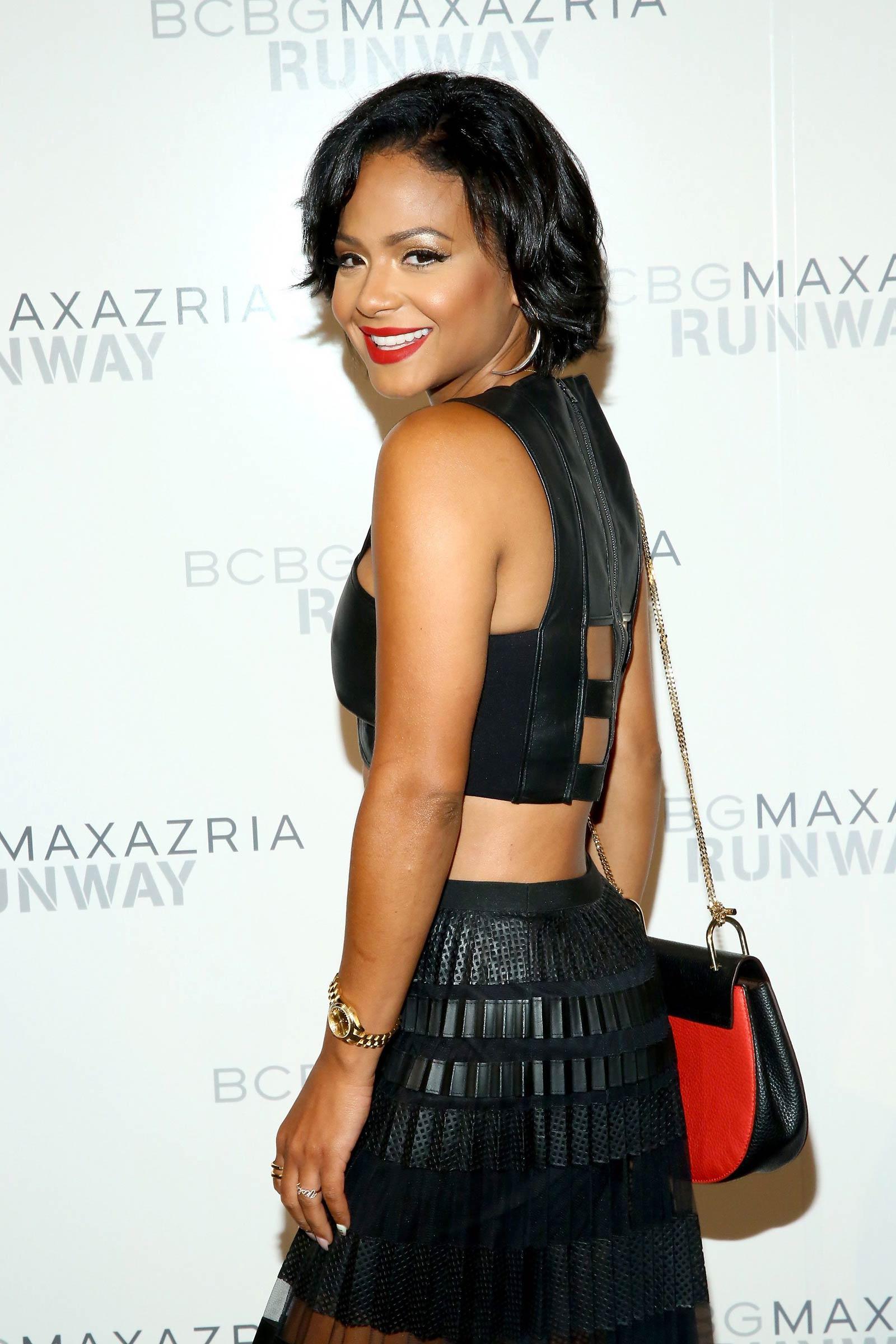 Christina Milian attends BCBGMAXAZRIA fashion show