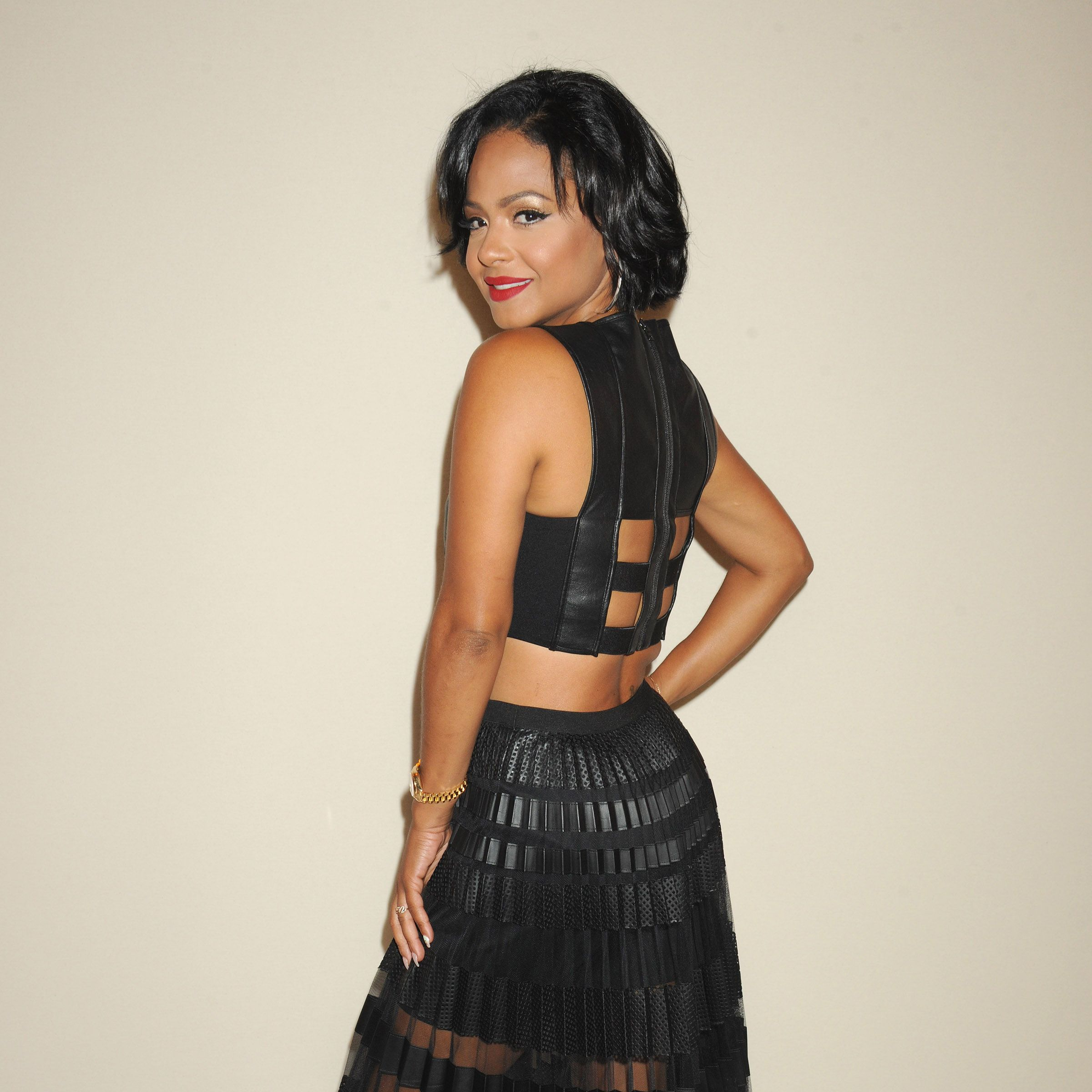 Christina Milian attends BCBGMAXAZRIA fashion show