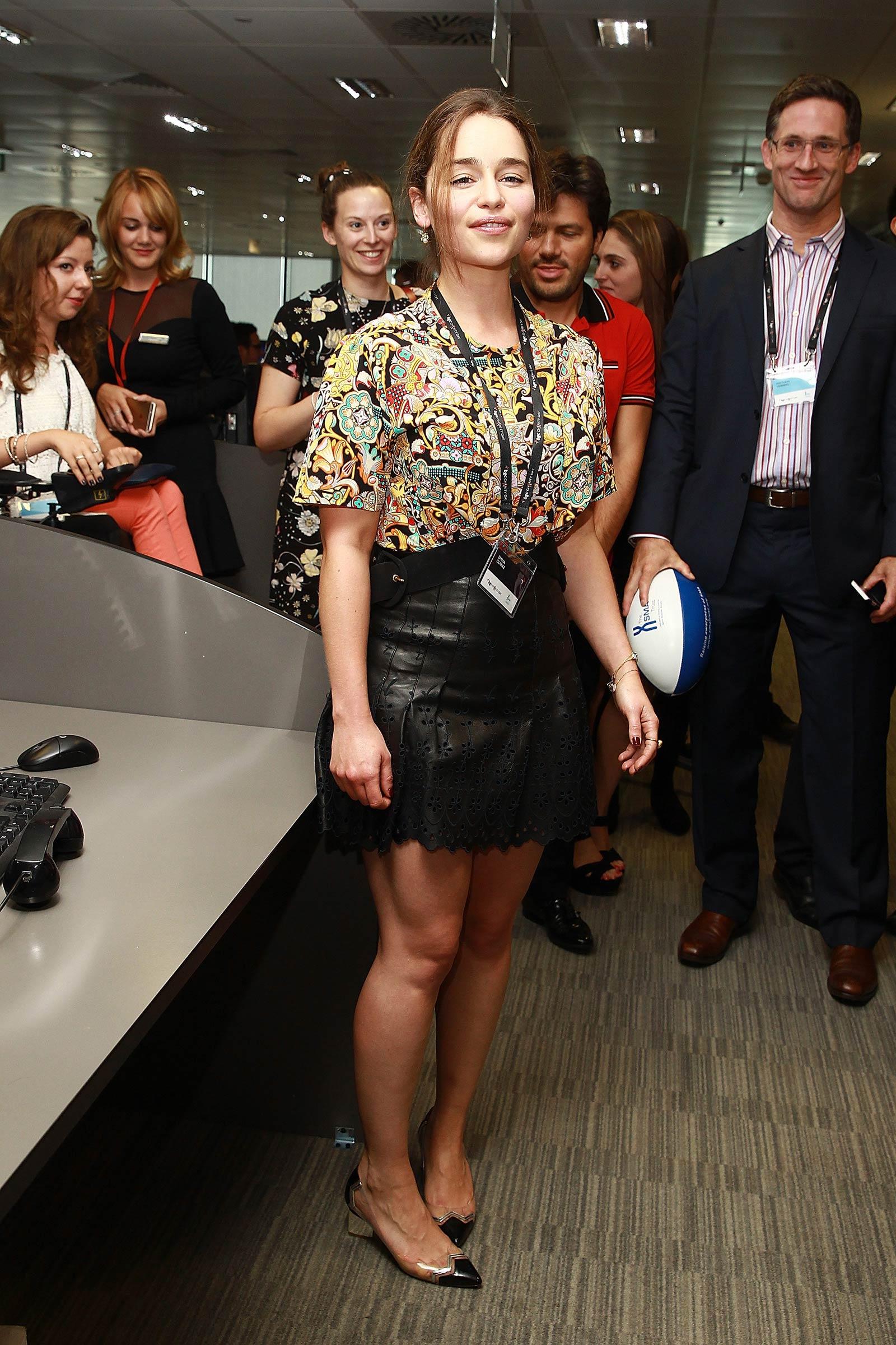 Emilia Clarke attends BGC Global Charity Day