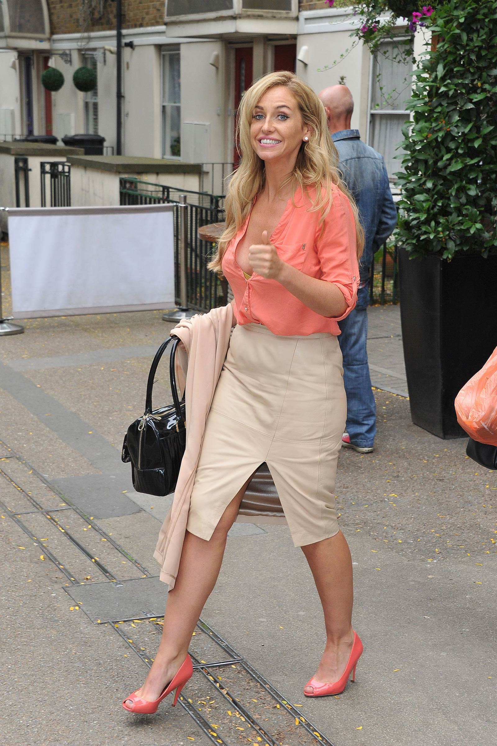 Josie Gibson London candids
