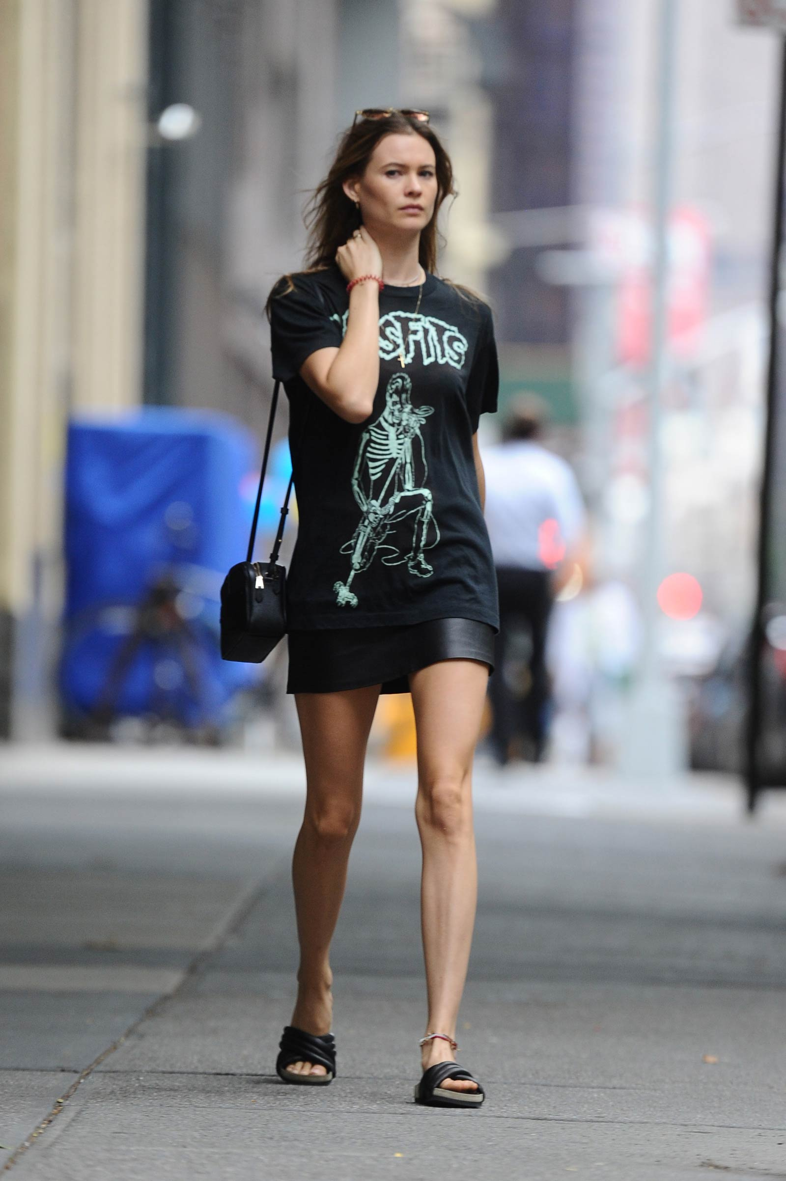 Behati Prinsloo out in New York City