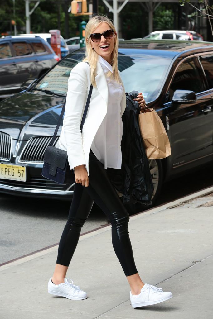 Karolina Kurkova is seen in New York City