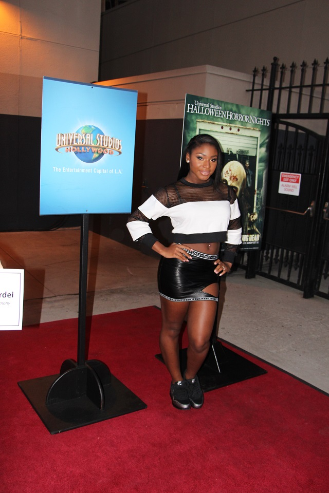 Normani Kordei at the Universal opening of Halloween Horror Nights