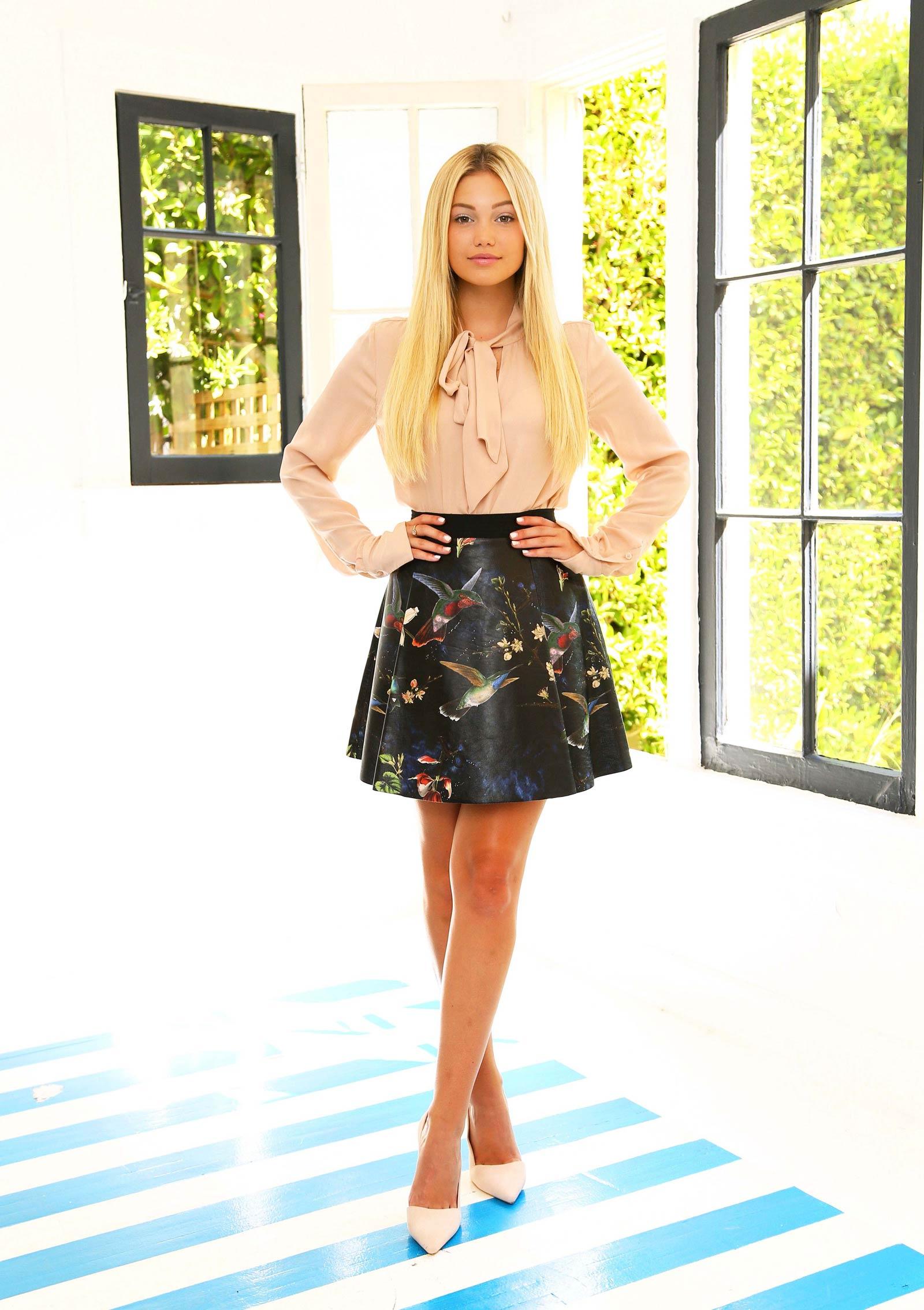 Olivia Holt at the Alice & Olivia Showroom
