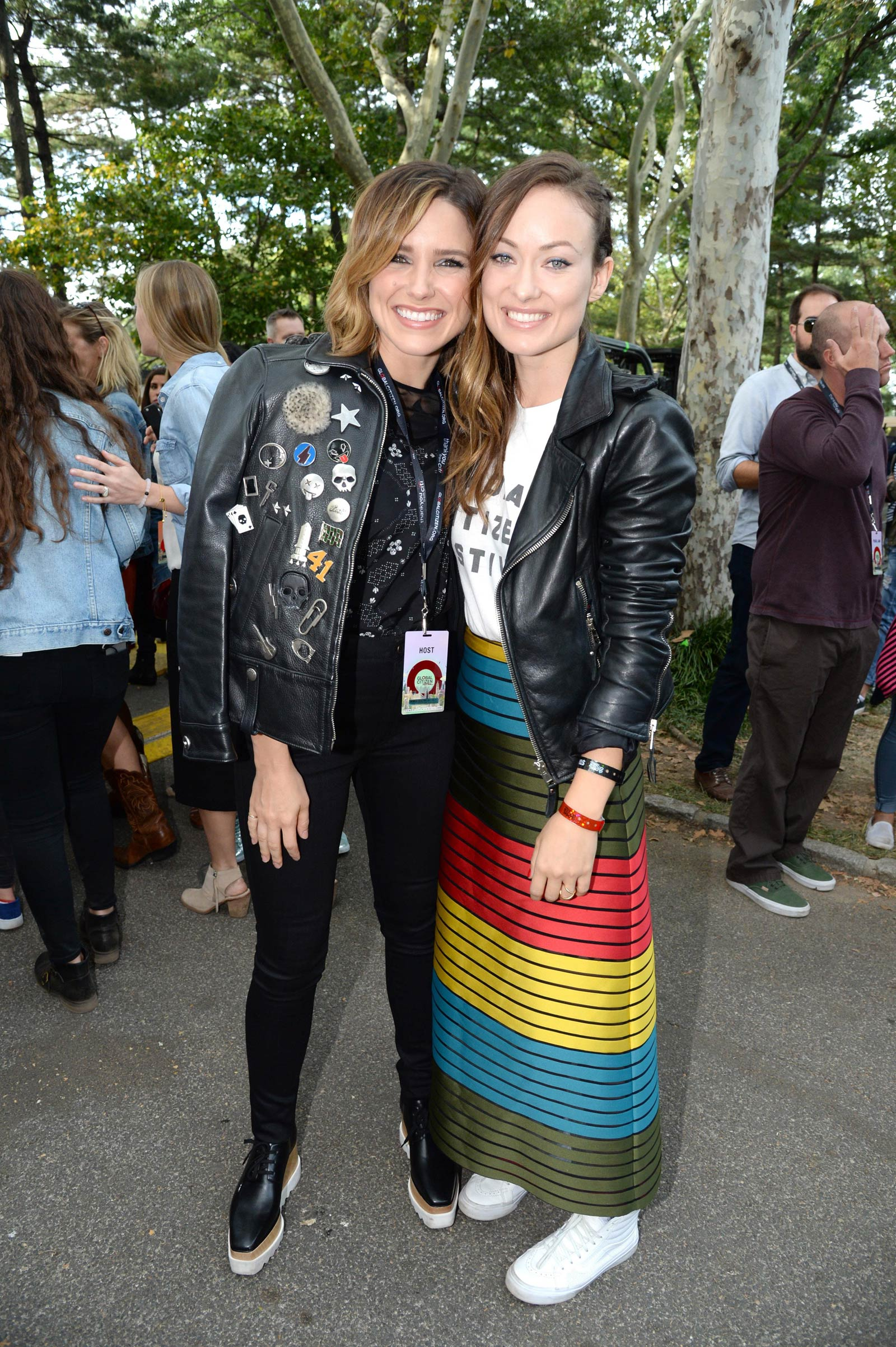 Sophia Bush & Olivia Wilde attend 2015 Global Citizen Festival to end extreme poverty by 2030